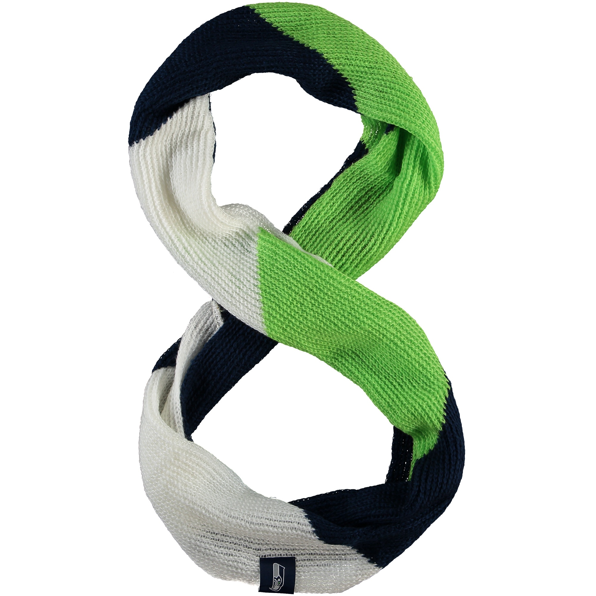 Seattle Seahawks Women's Color Block Knit Infinity Scarf