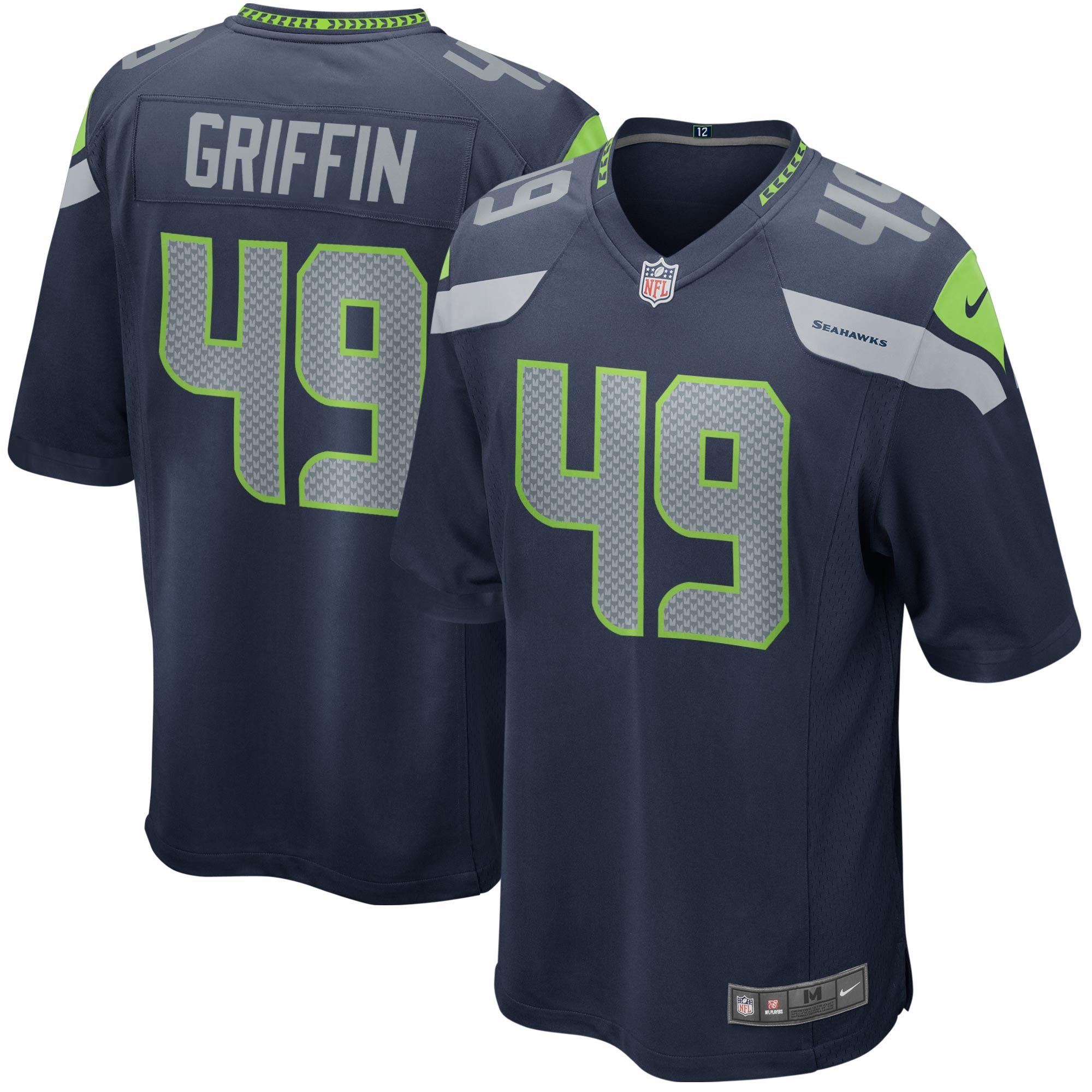 Shaquem Griffin Seattle Seahawks Nike Youth Game Jersey - Navy
