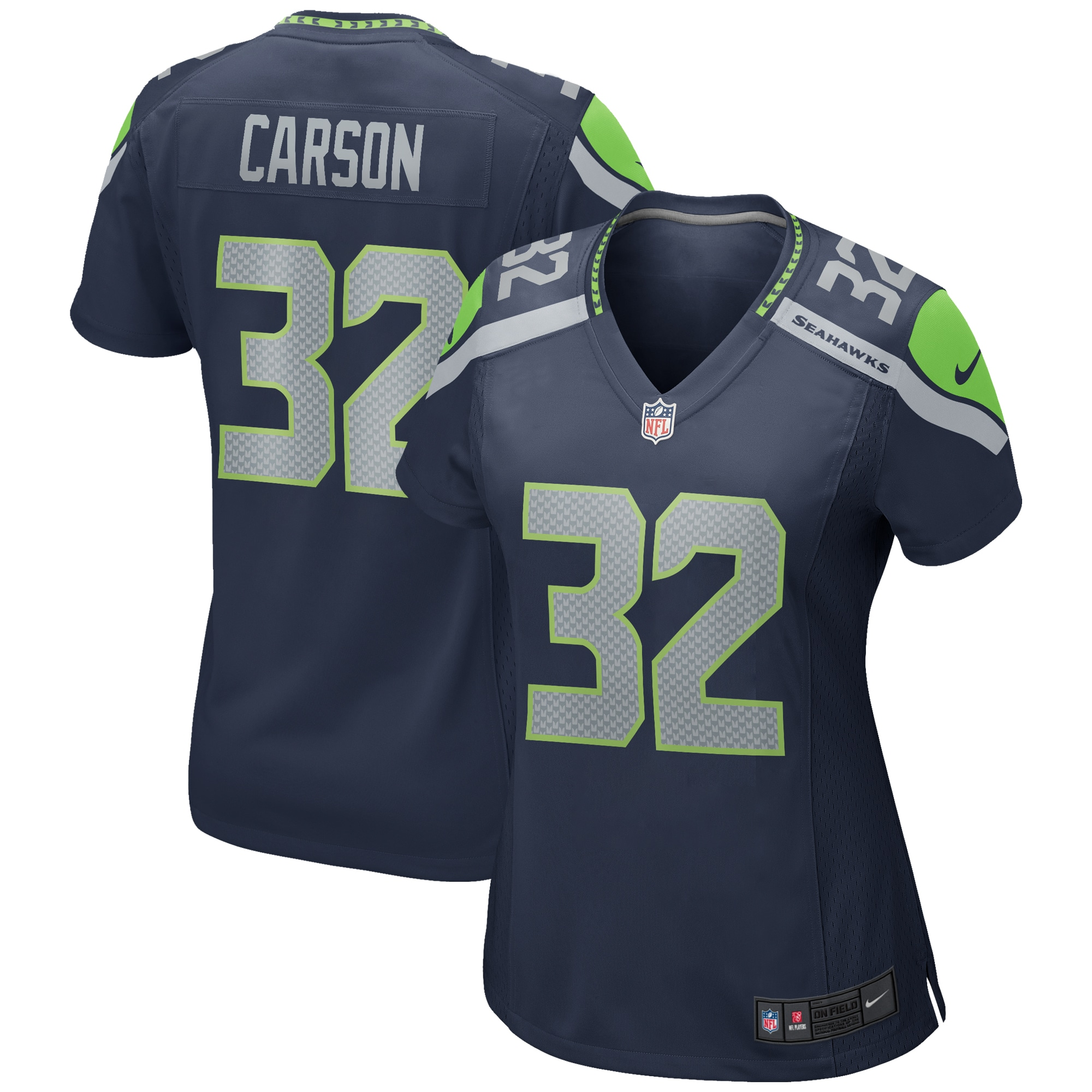 Chris Carson Seattle Seahawks Nike Women's Game Jersey - College Navy