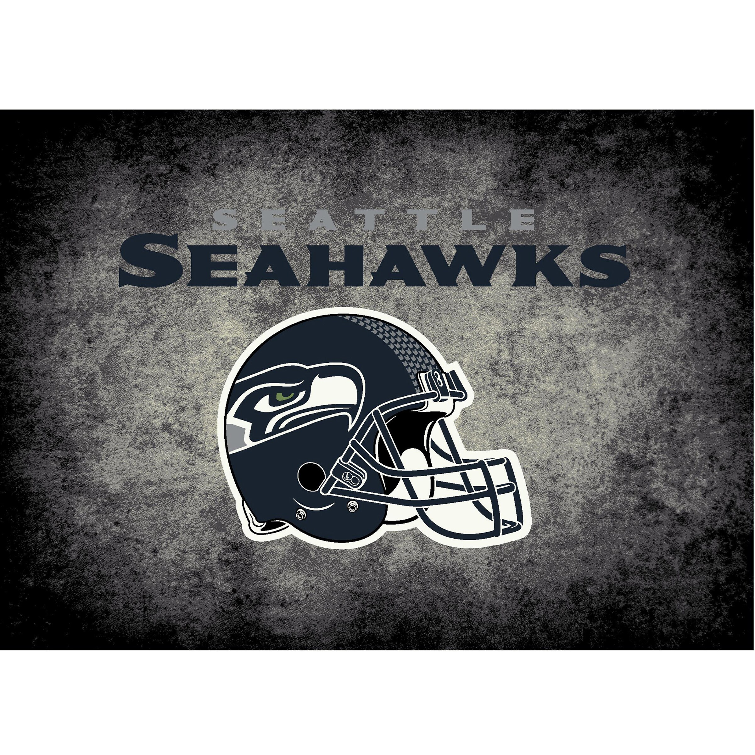 Seattle Seahawks Imperial 4' x 6' Distressed Rug