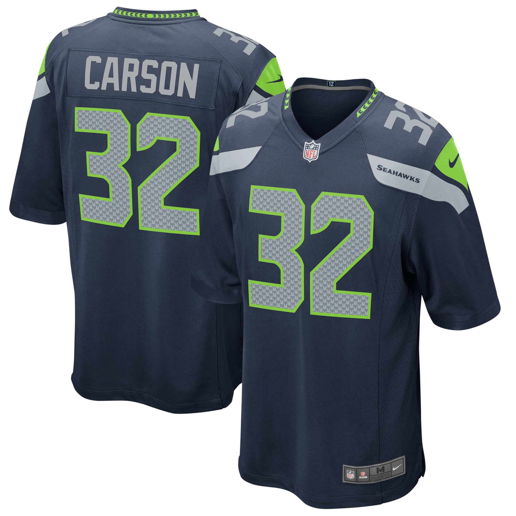 Chris Carson Seattle Seahawks Nike Game Jersey - College Navy