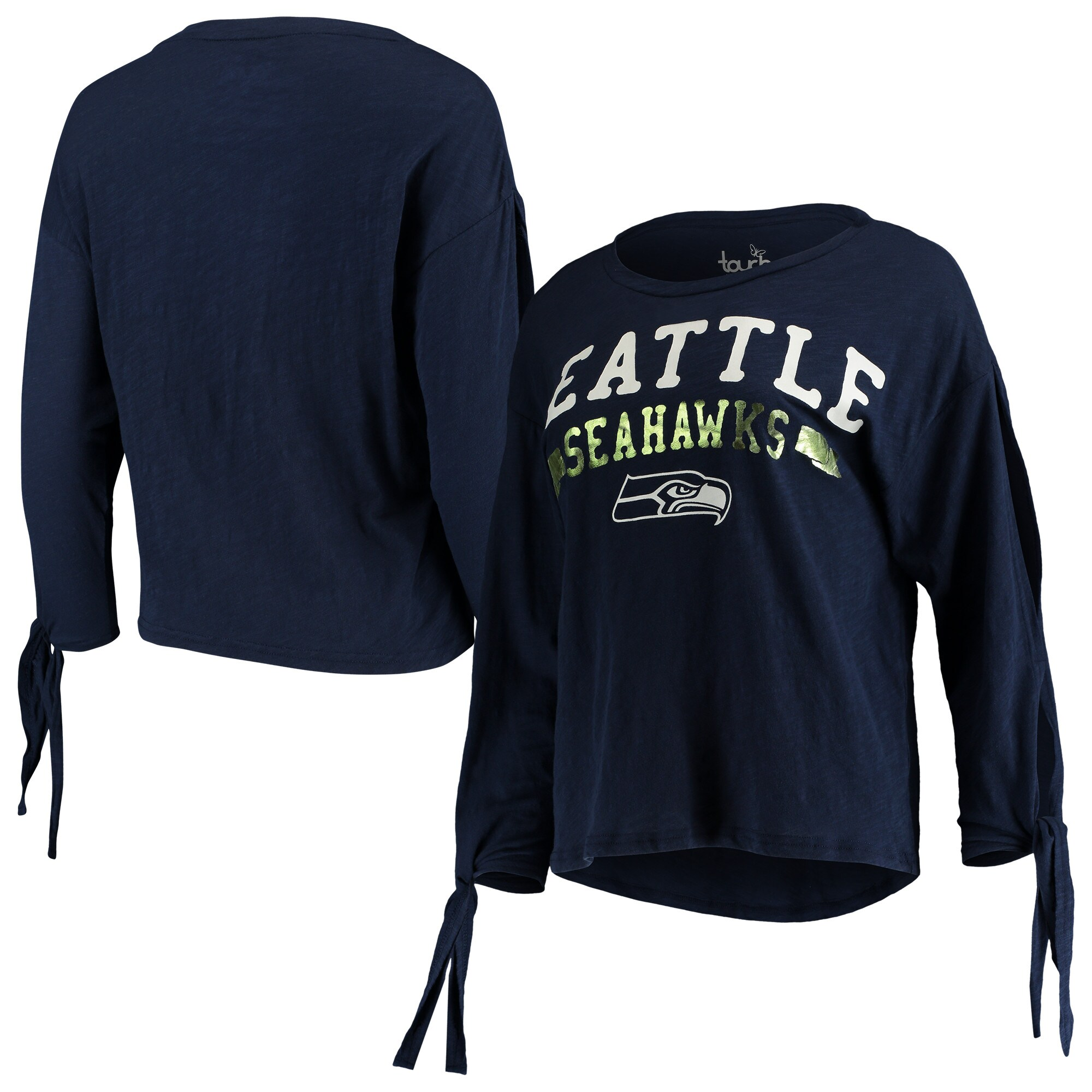Seattle Seahawks Touch by Alyssa Milano Women's On The Fly Long Sleeve T-Shirt - College Navy