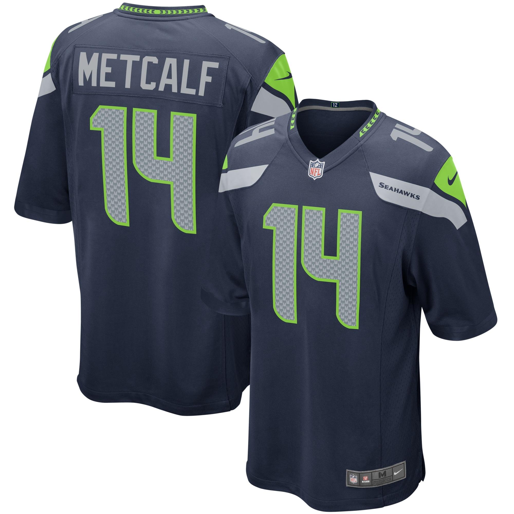 DK Metcalf Seattle Seahawks Nike Game Player Jersey - Navy
