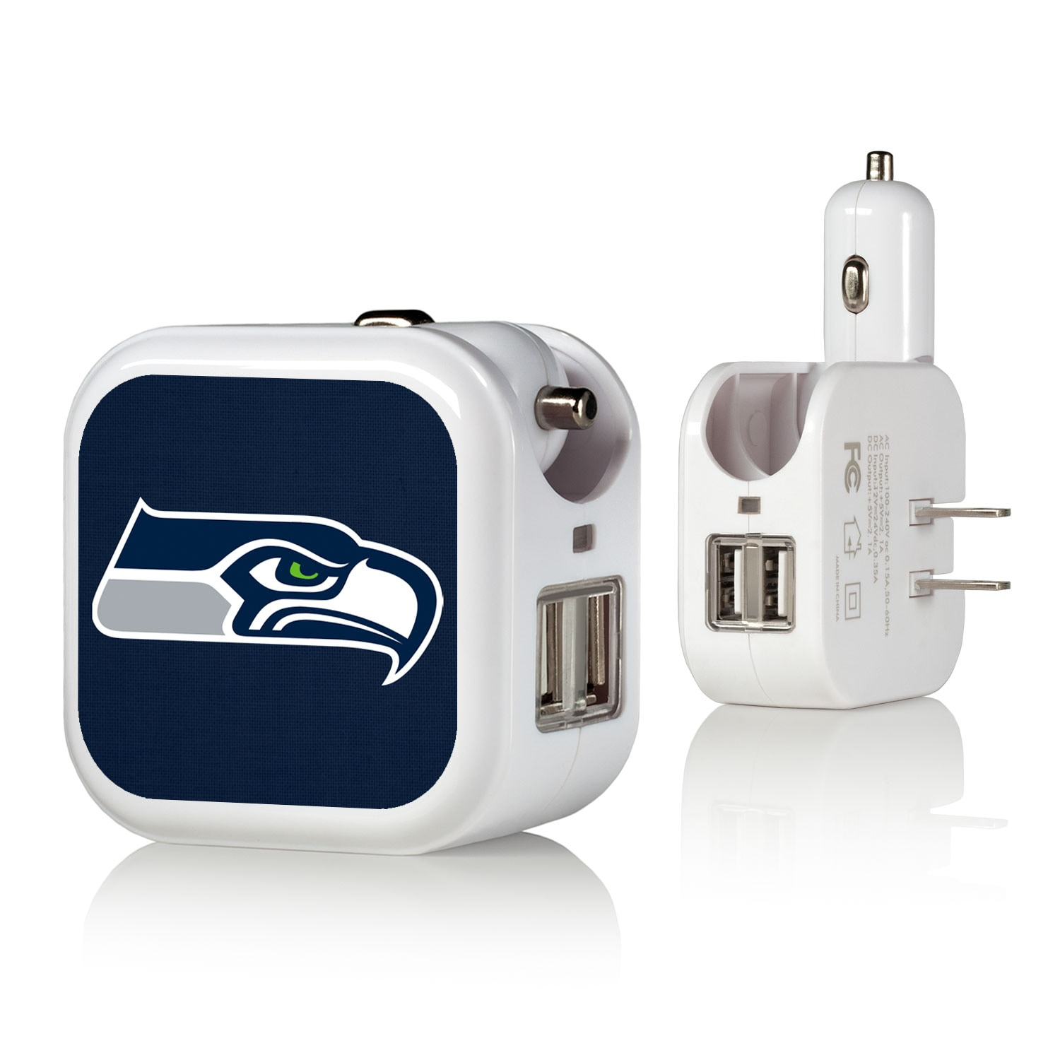 Seattle Seahawks Solid Design USB Charger