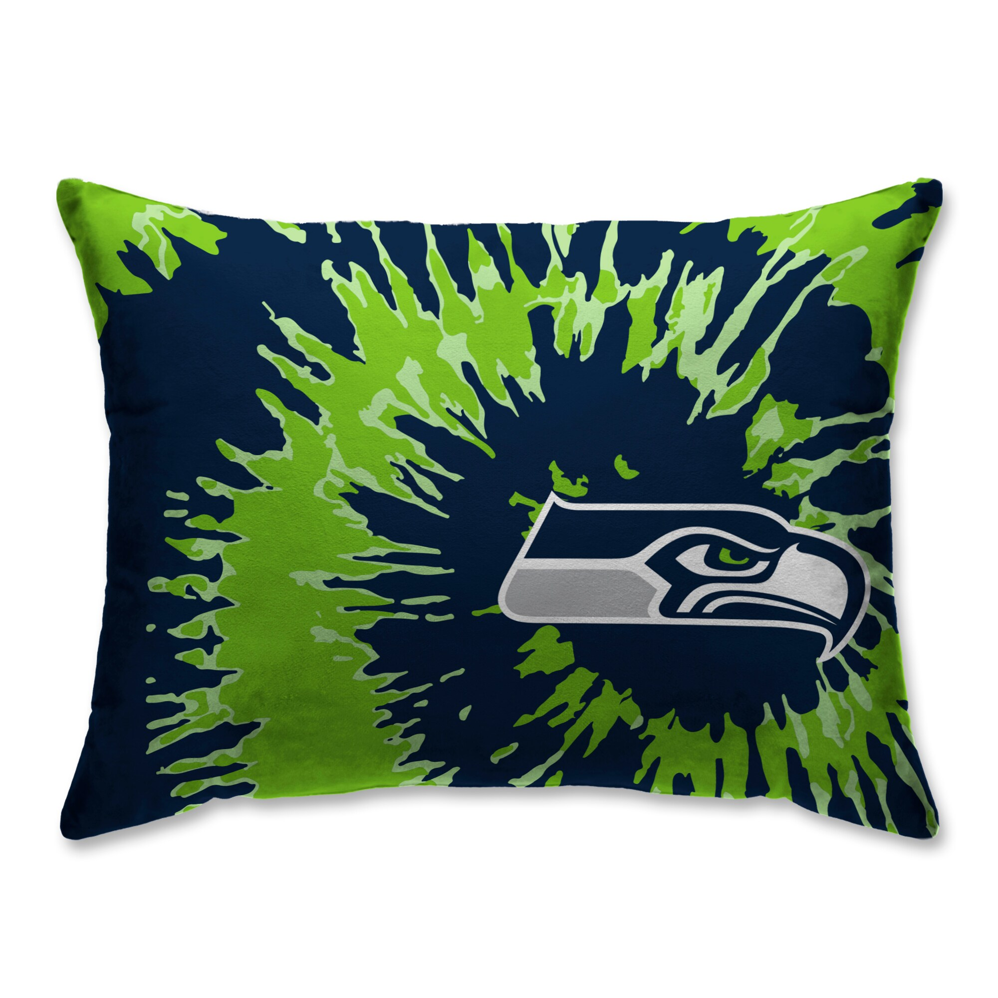 Seattle Seahawks Tie Dye Plush Bed Pillow - Blue