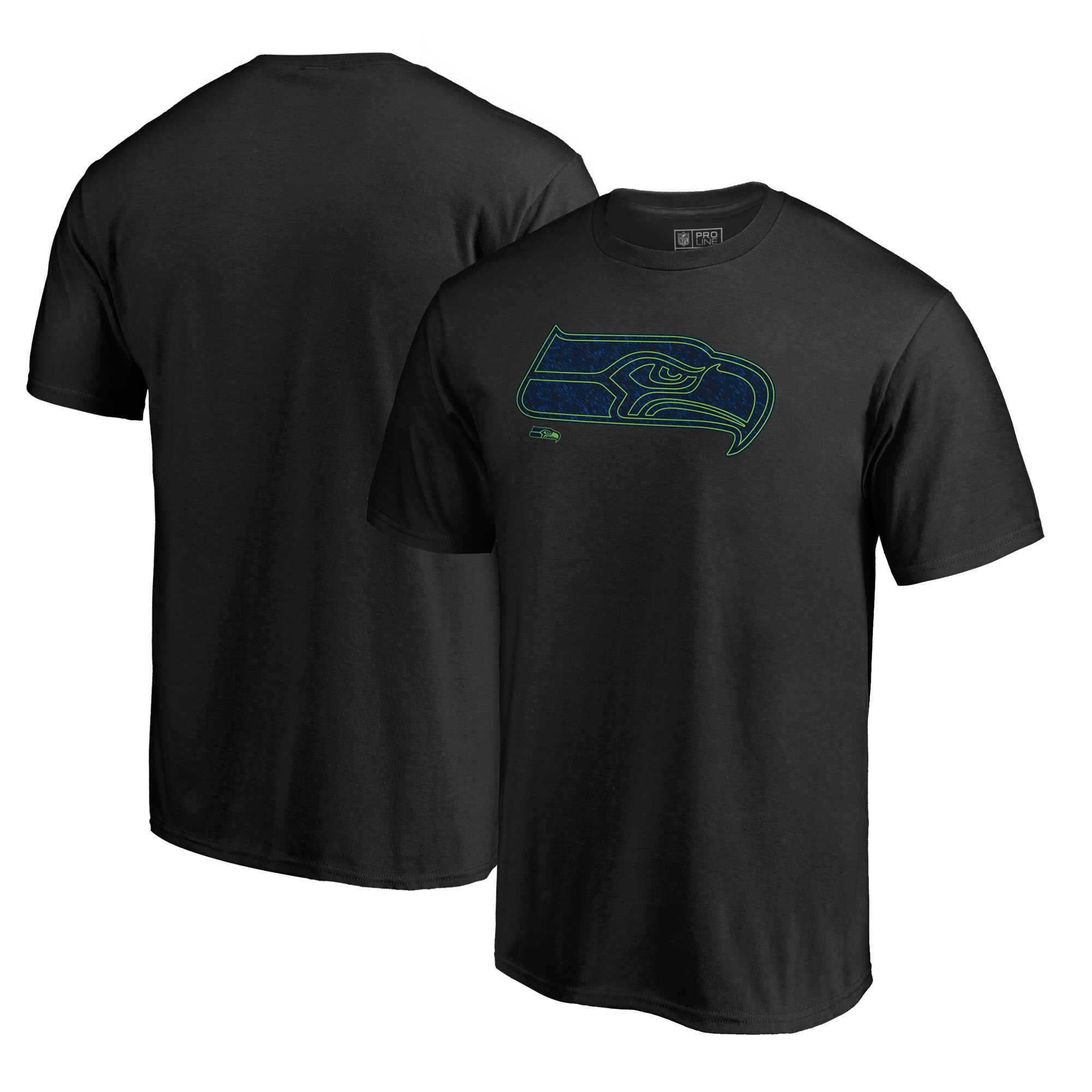 Seattle Seahawks NFL Pro Line by Fanatics Branded Big & Tall Training Camp Hookup T-Shirt - Black