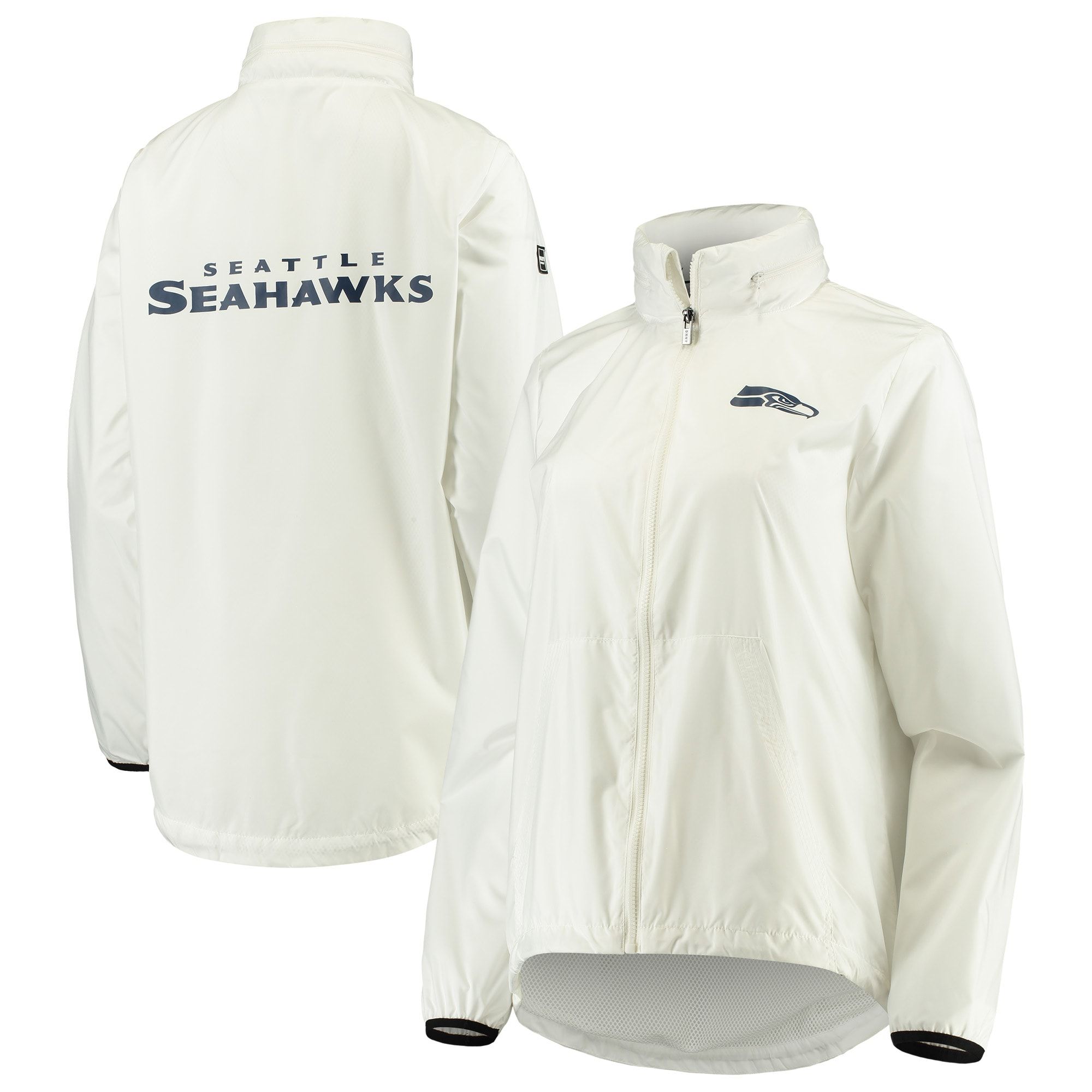 Seattle Seahawks DKNY Sport Women's Stadium Full-Zip Jacket - White