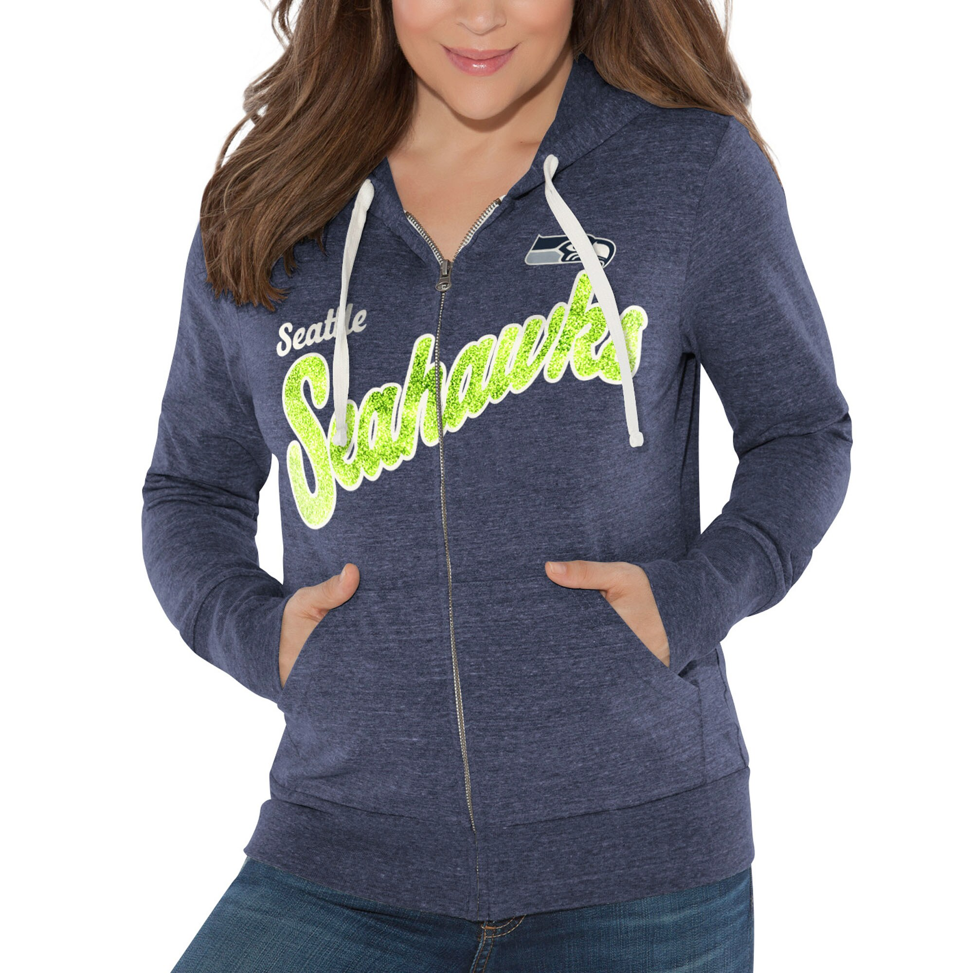 Seattle Seahawks Touch by Alyssa Milano Women's All American Full-Zip Hoodie - College Navy