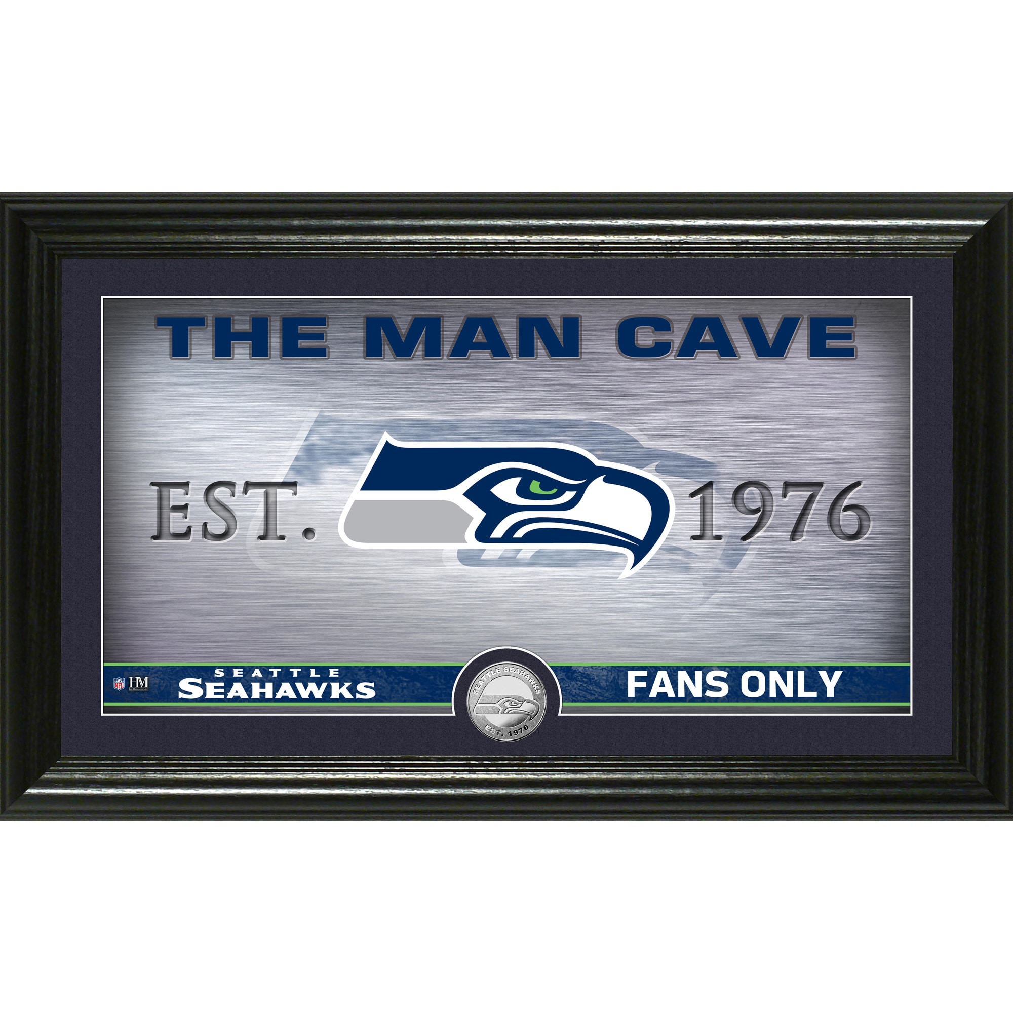 "Seattle Seahawks Highland Mint 12"" x 20"" Man Cave Photo Mint"