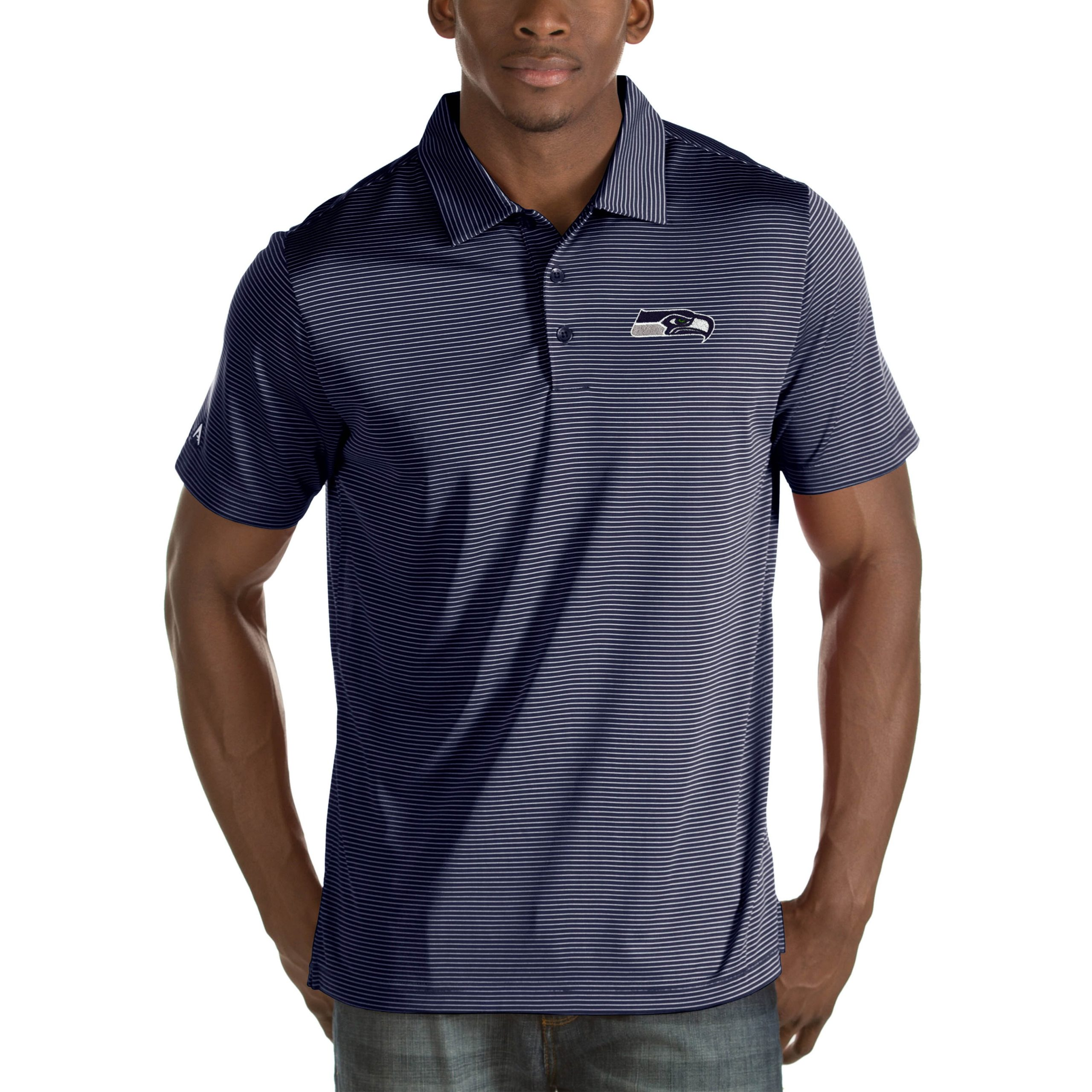 Seattle Seahawks Antigua Quest Big & Tall Polo - Navy