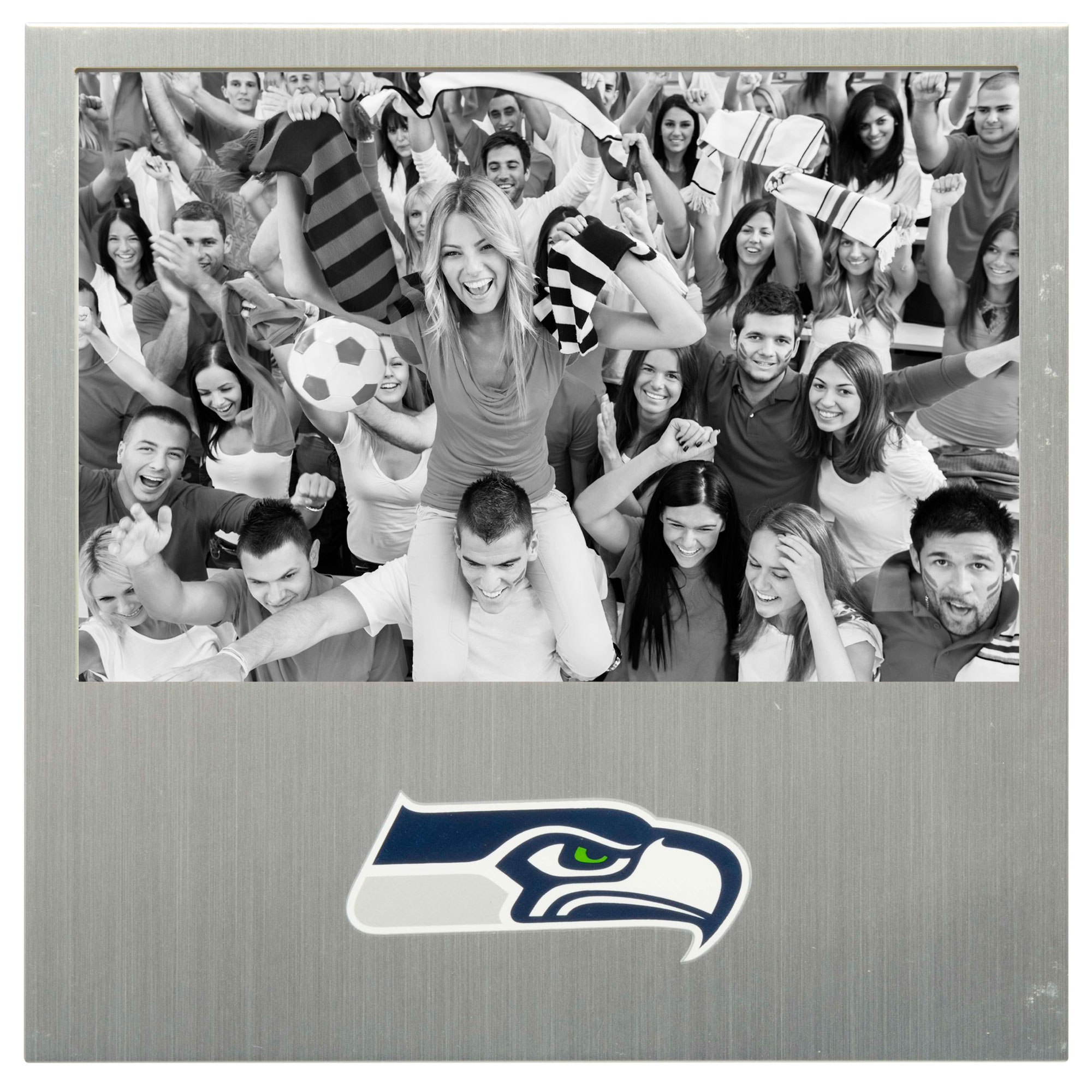 "Seattle Seahawks 4"" x 6"" Aluminum Picture Frame"