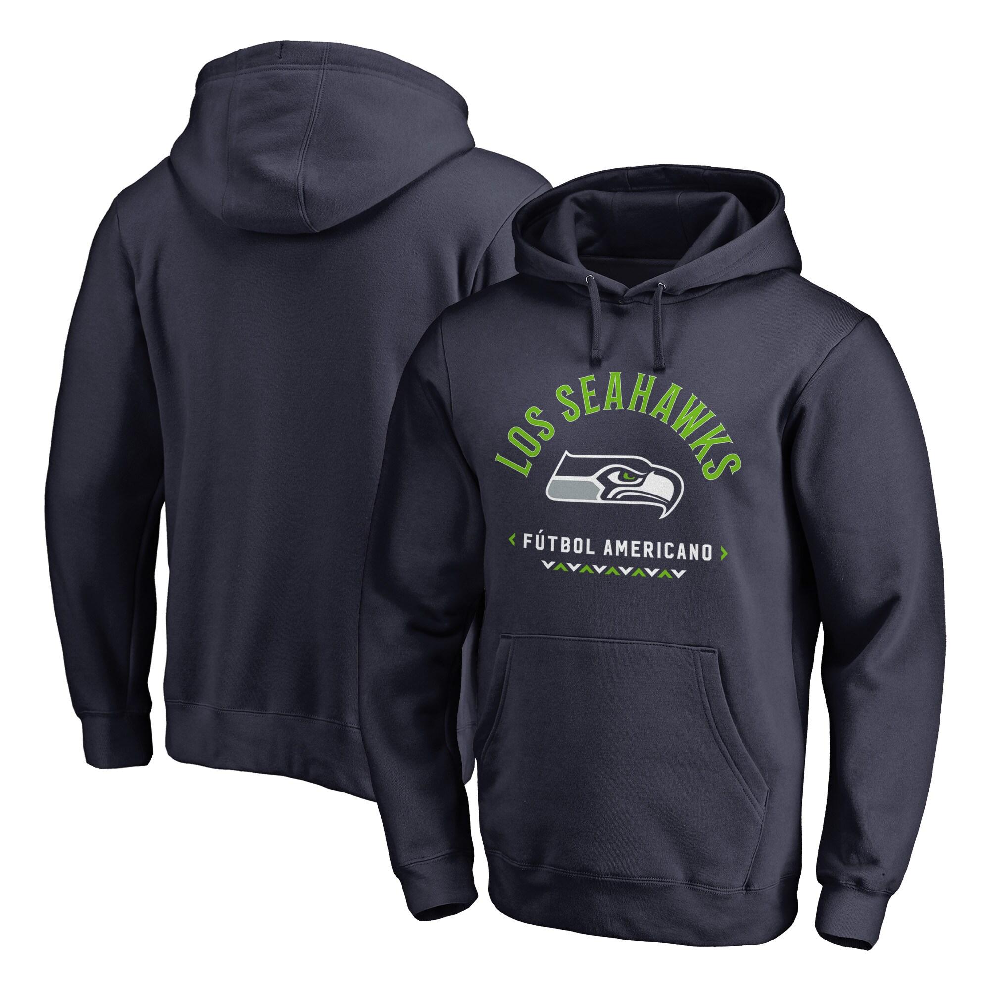 Seattle Seahawks NFL Pro Line by Fanatics Branded Futbol Americano Pullover Hoodie - College Navy
