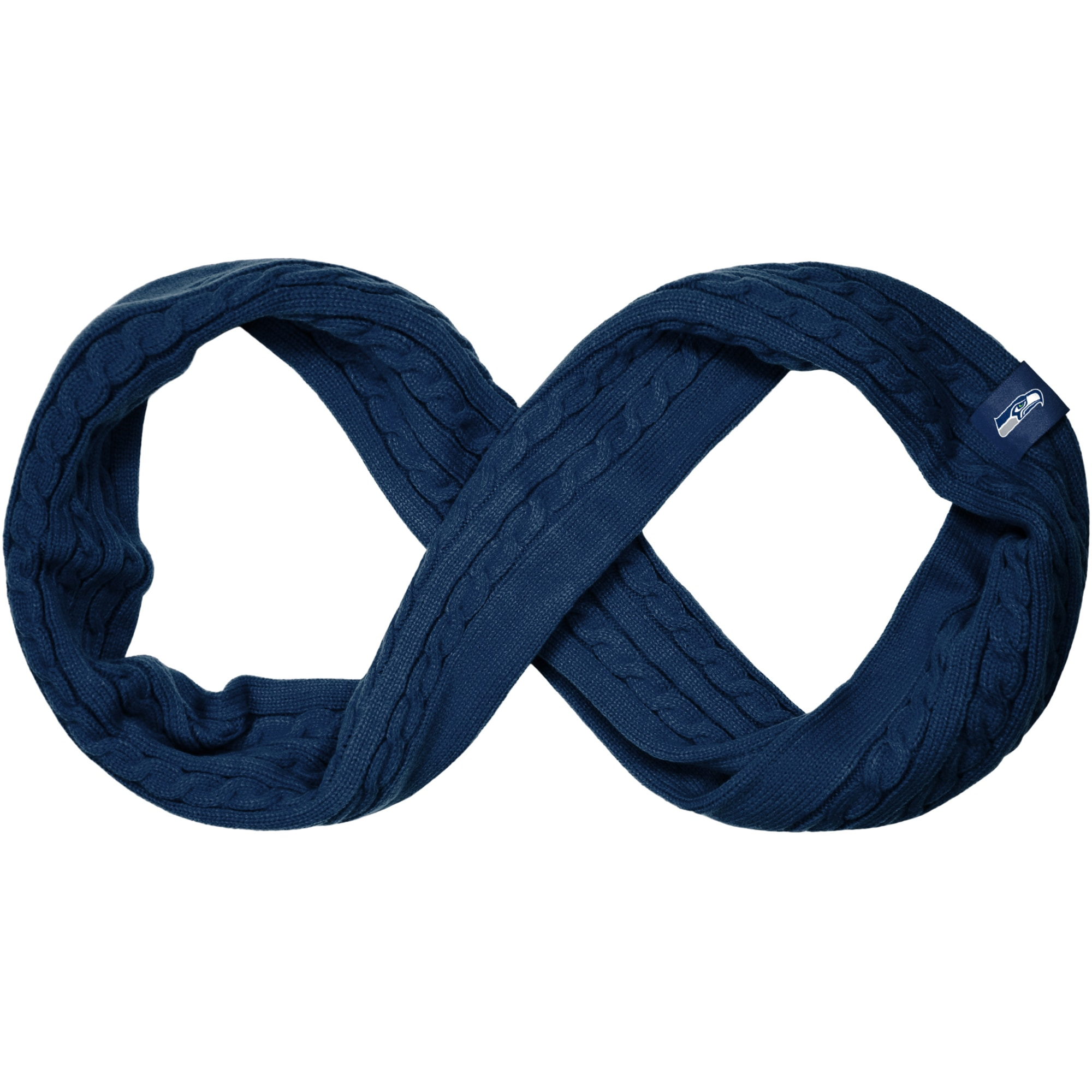 Seattle Seahawks Women's Cable Knit Infinity Scarf - College Navy