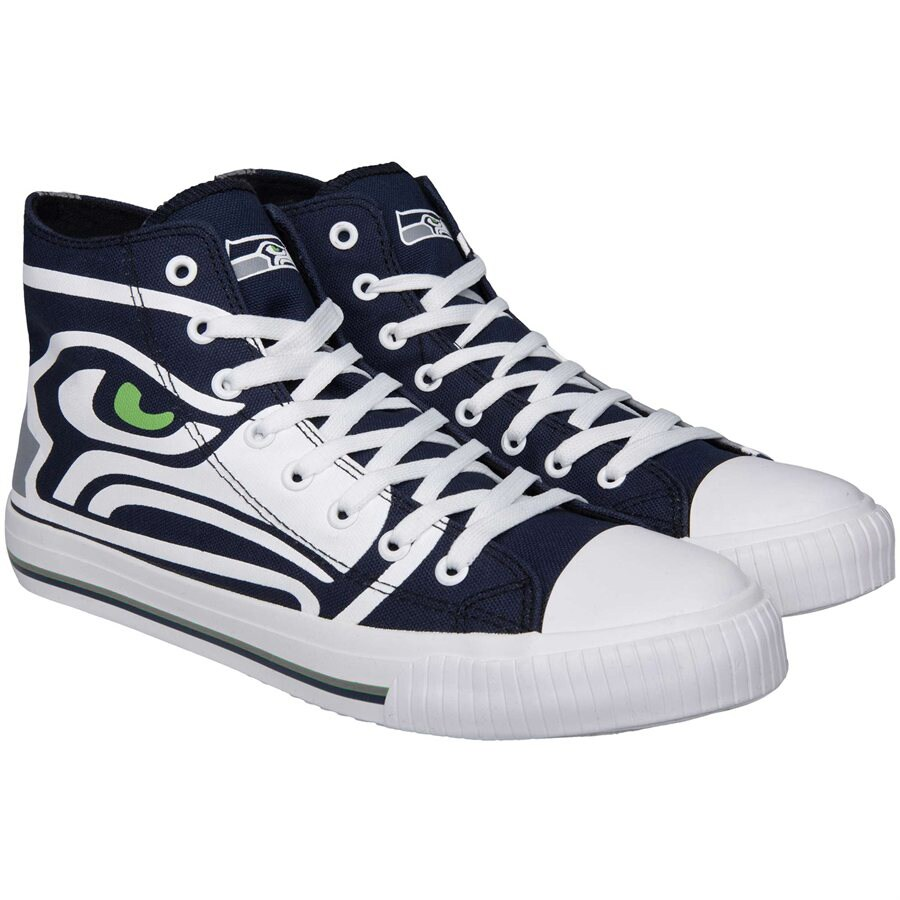 Seattle Seahawks Big Logo High Top Sneakers
