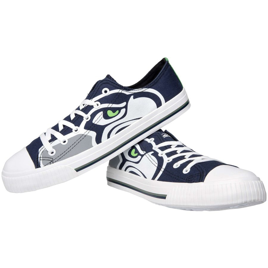 Seattle Seahawks Big Logo Low Top Sneakers