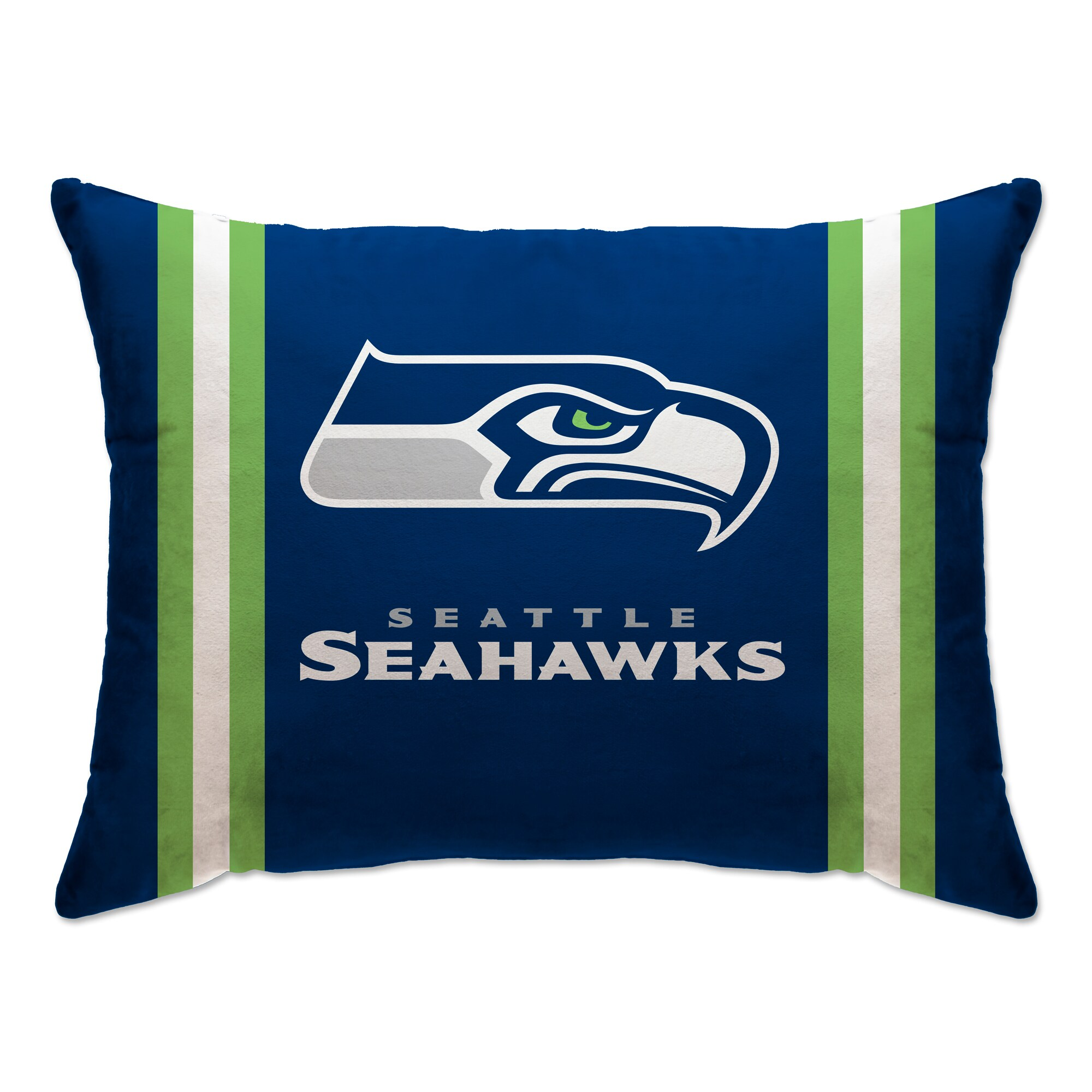 "Seattle Seahawks 20"" x 26"" Plush Bed Pillow - Blue"