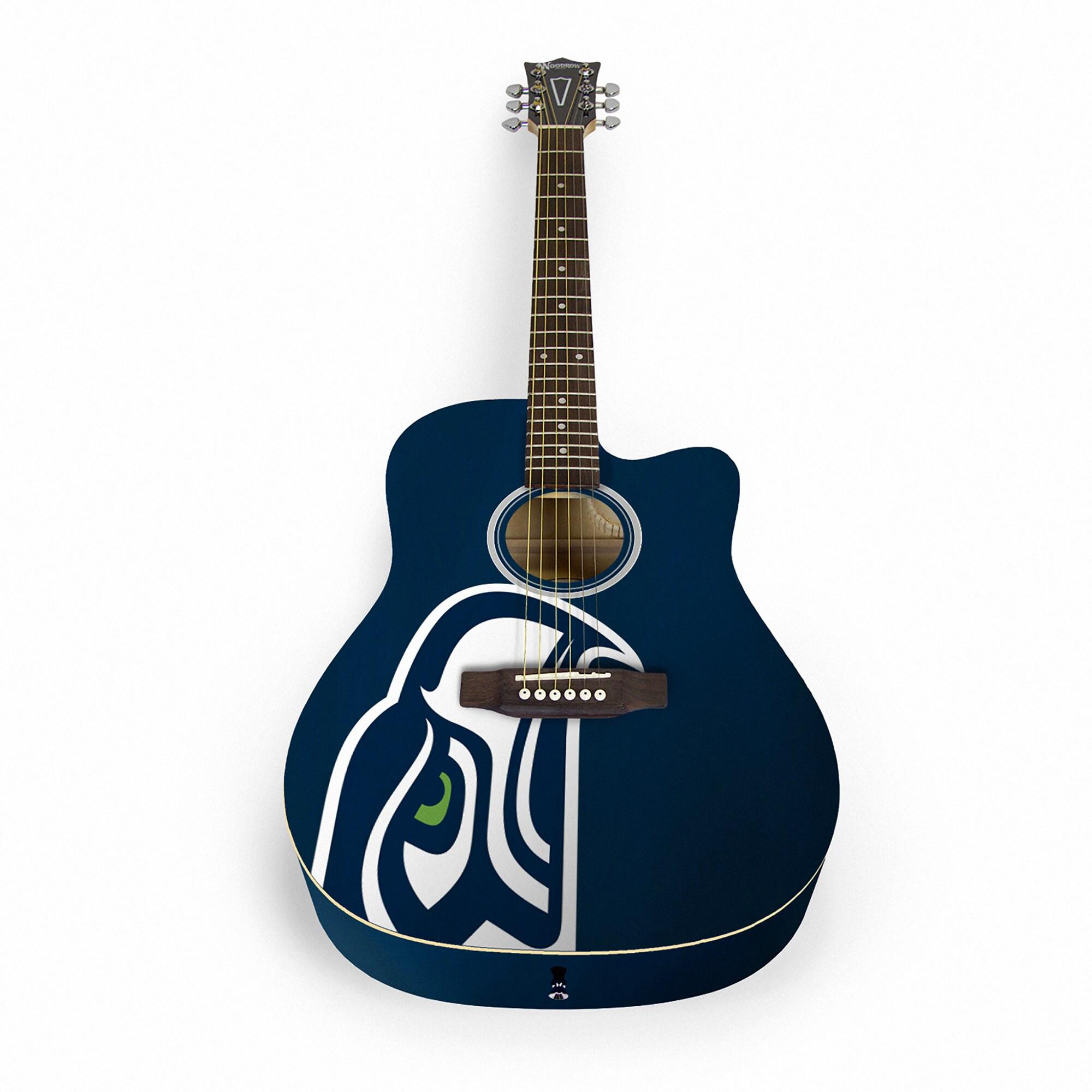 Seattle Seahawks Woodrow Acoustic Guitar