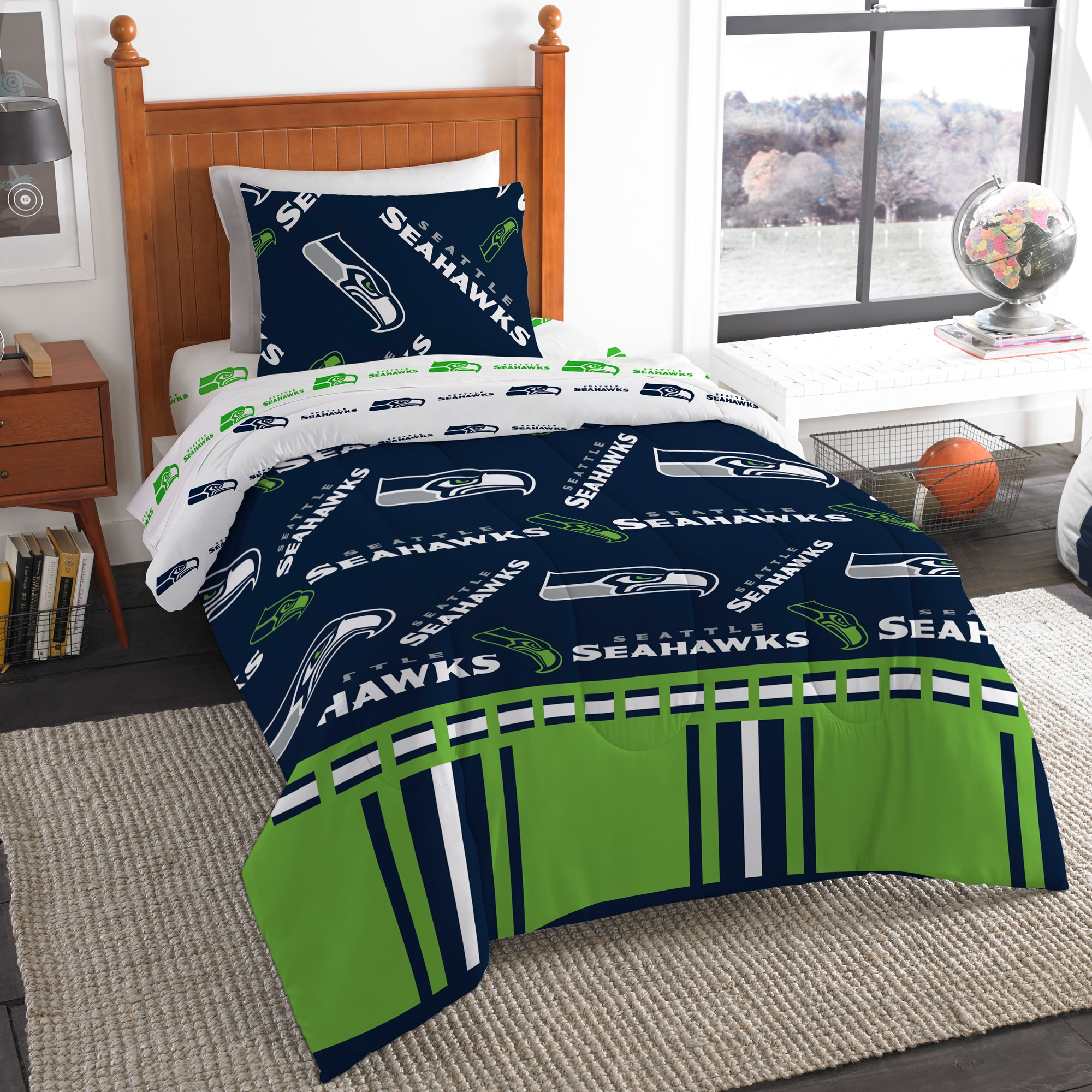 Seattle Seahawks The Northwest Company 4-Piece Twin Bed in a Bag Set