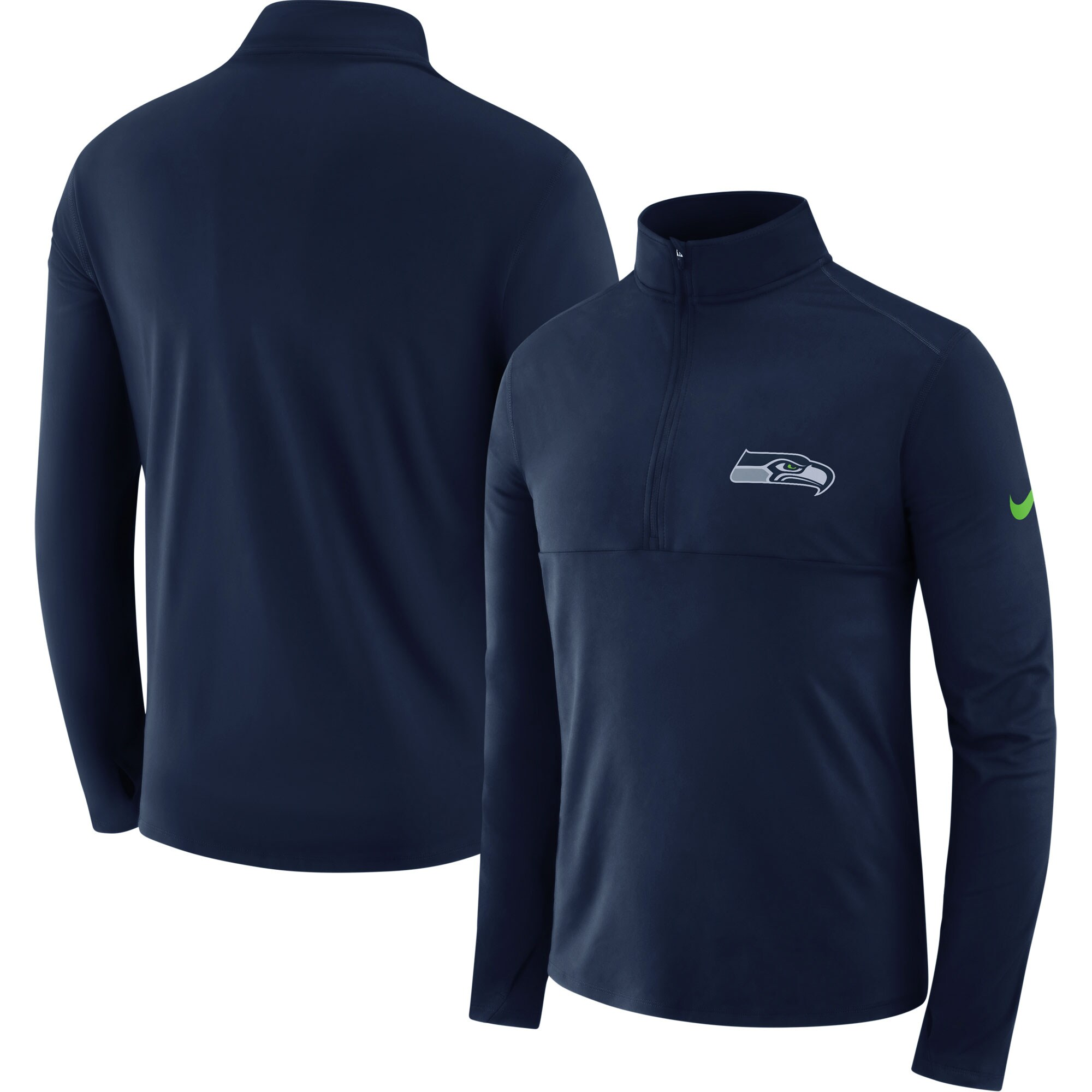 Seattle Seahawks Nike Fan Gear Element Half-Zip Performance Jacket - Navy