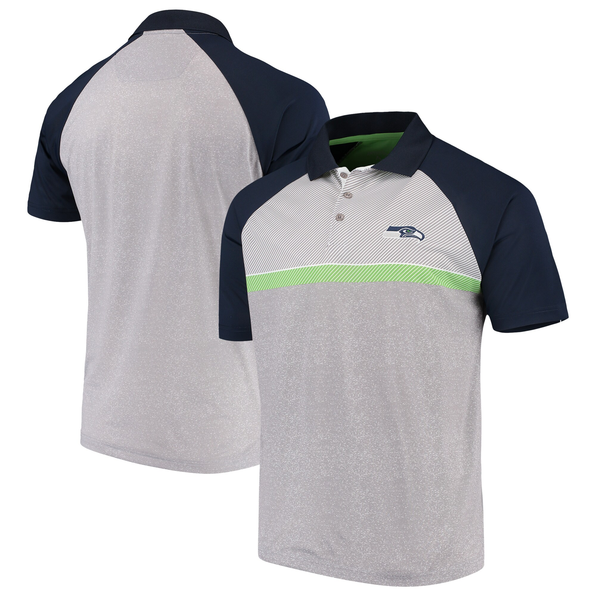 Seattle Seahawks Antigua Momentum Polo - Gray/College Navy