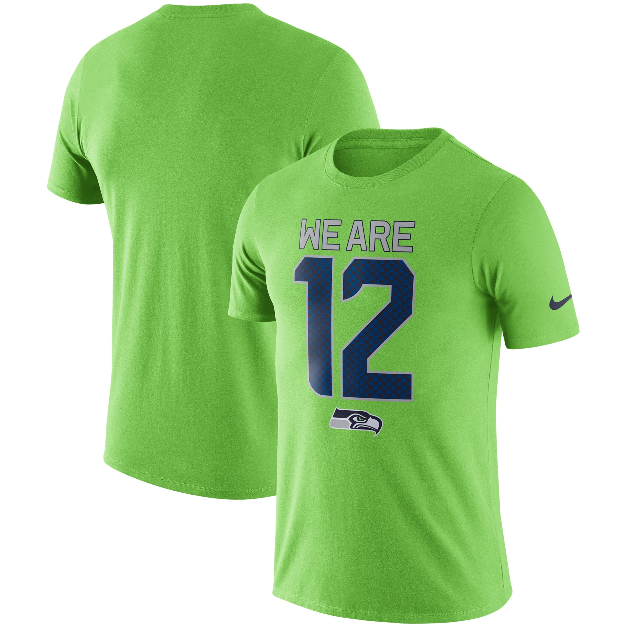 Seattle Seahawks Nike Local Lockup Performance T-Shirt - Neon Green