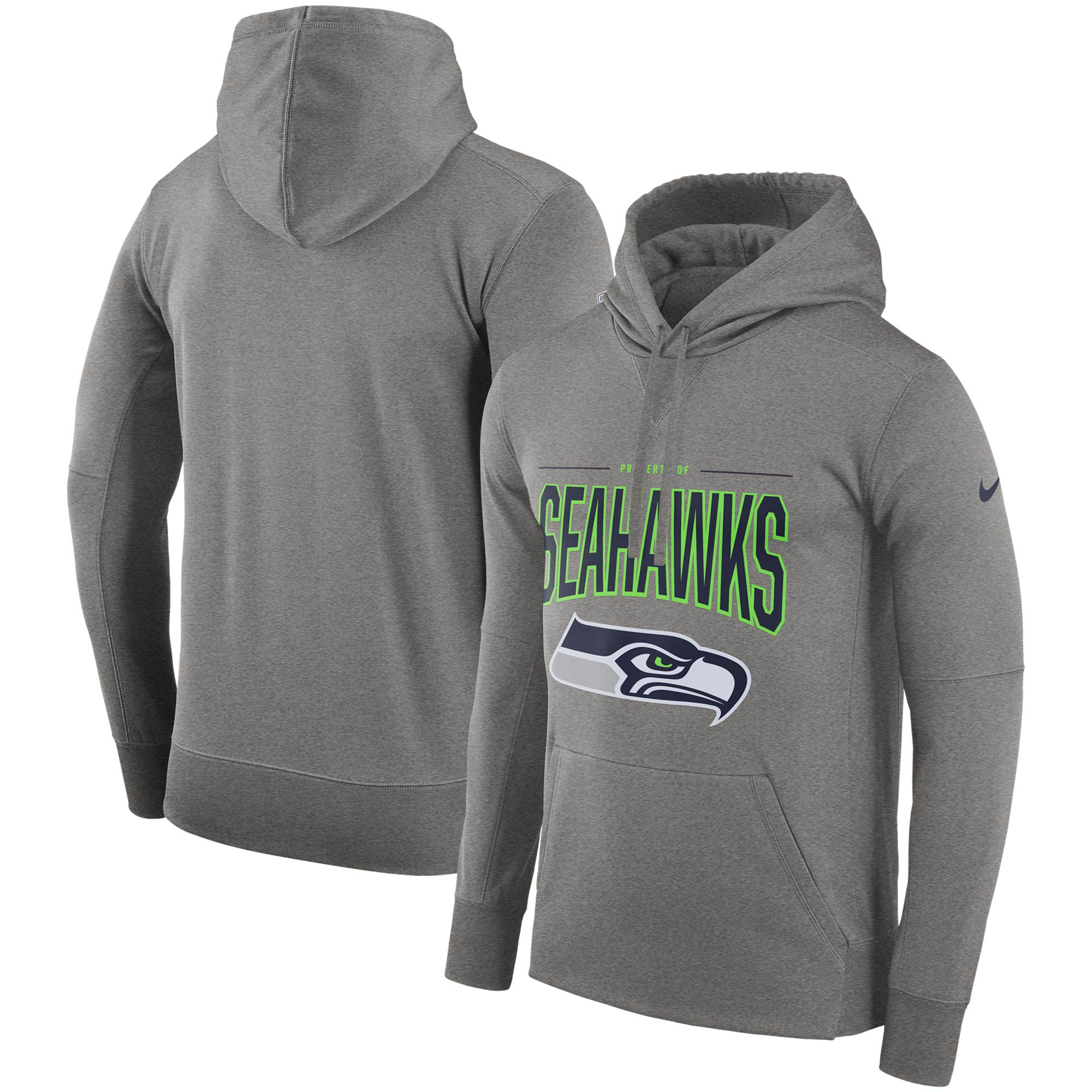 Seattle Seahawks Nike Sideline Property of Performance Pullover Hoodie - Gray