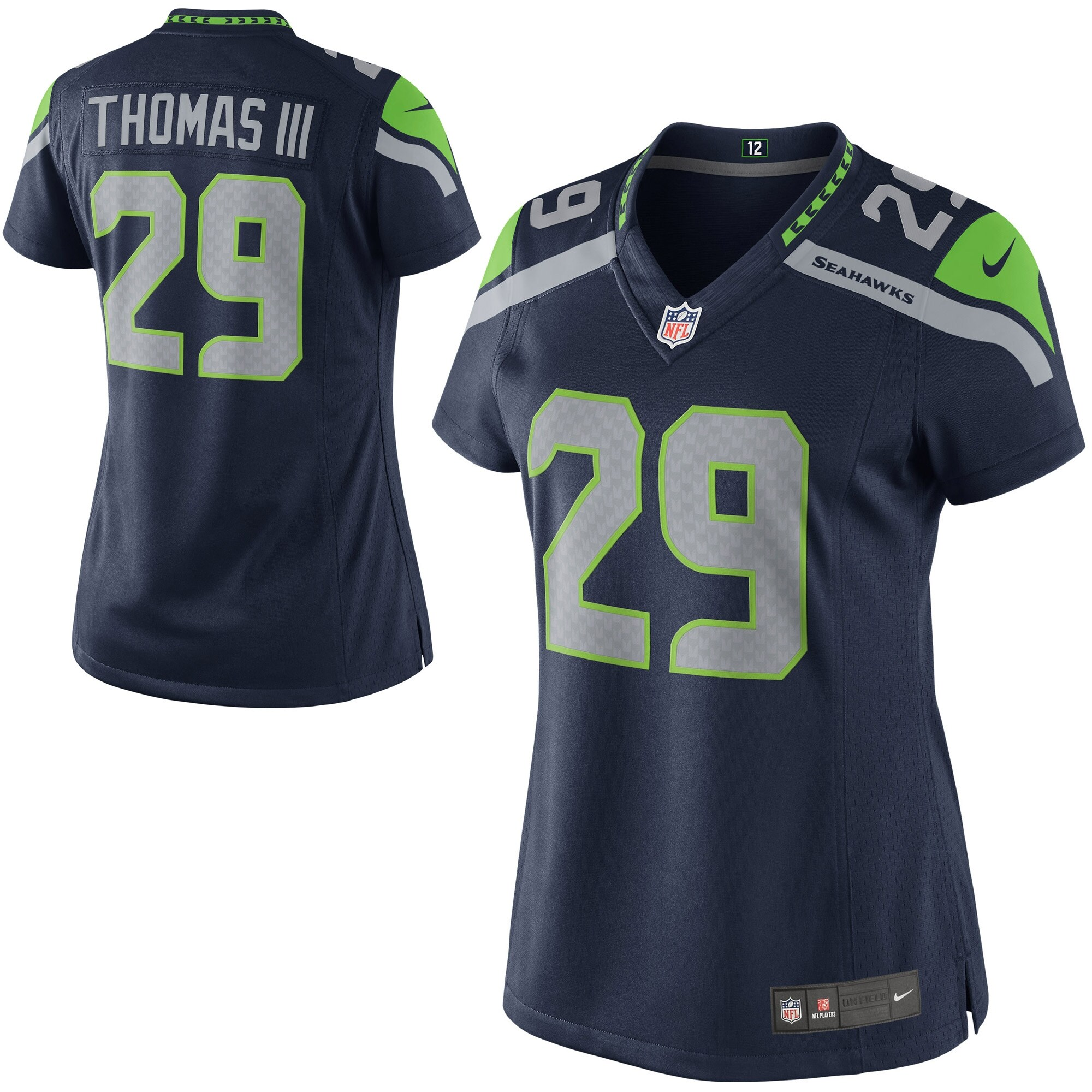 Earl Thomas Seattle Seahawks Nike Women's Limited Jersey - Navy Blue