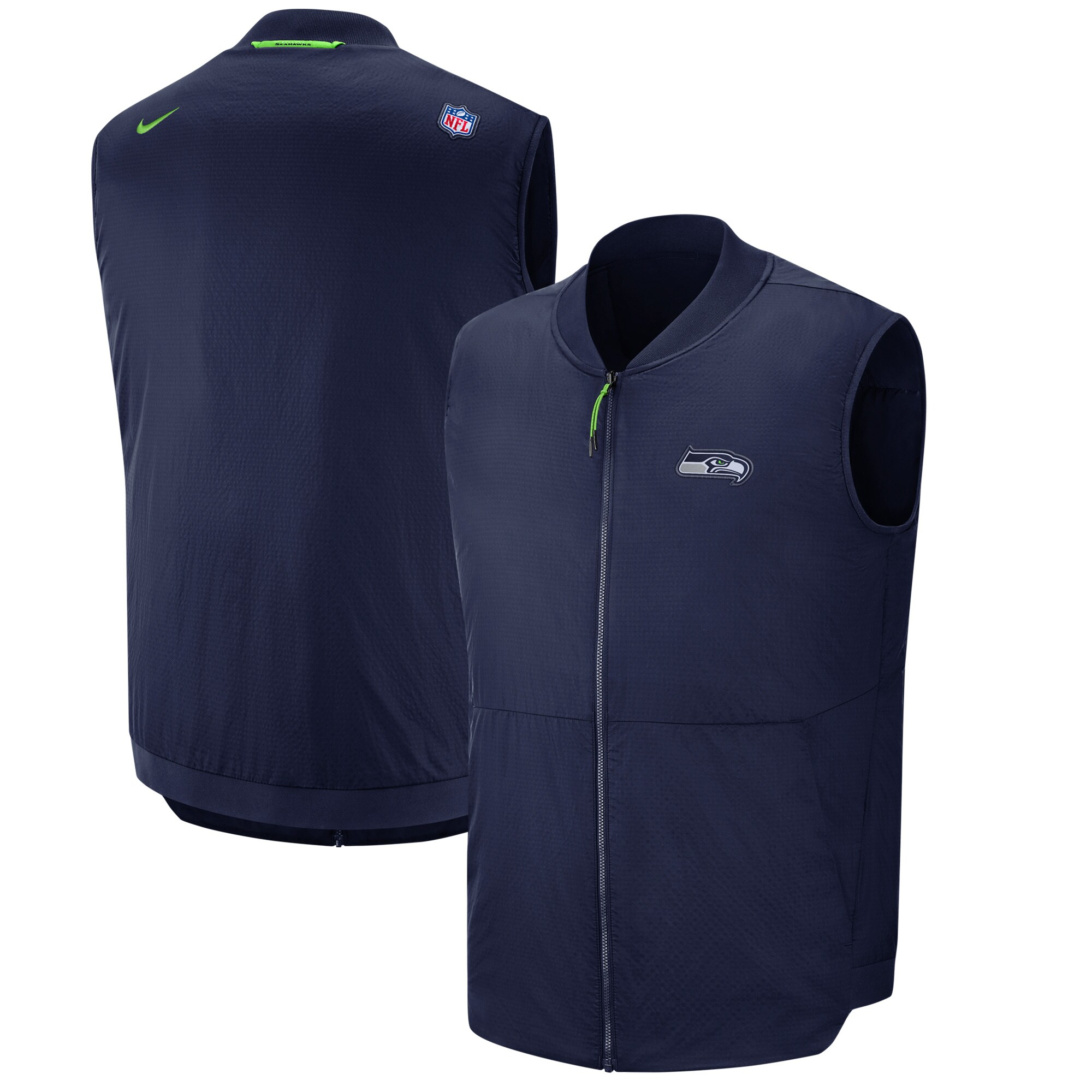 Seattle Seahawks Nike Sideline Full-Zip Vest - College Navy