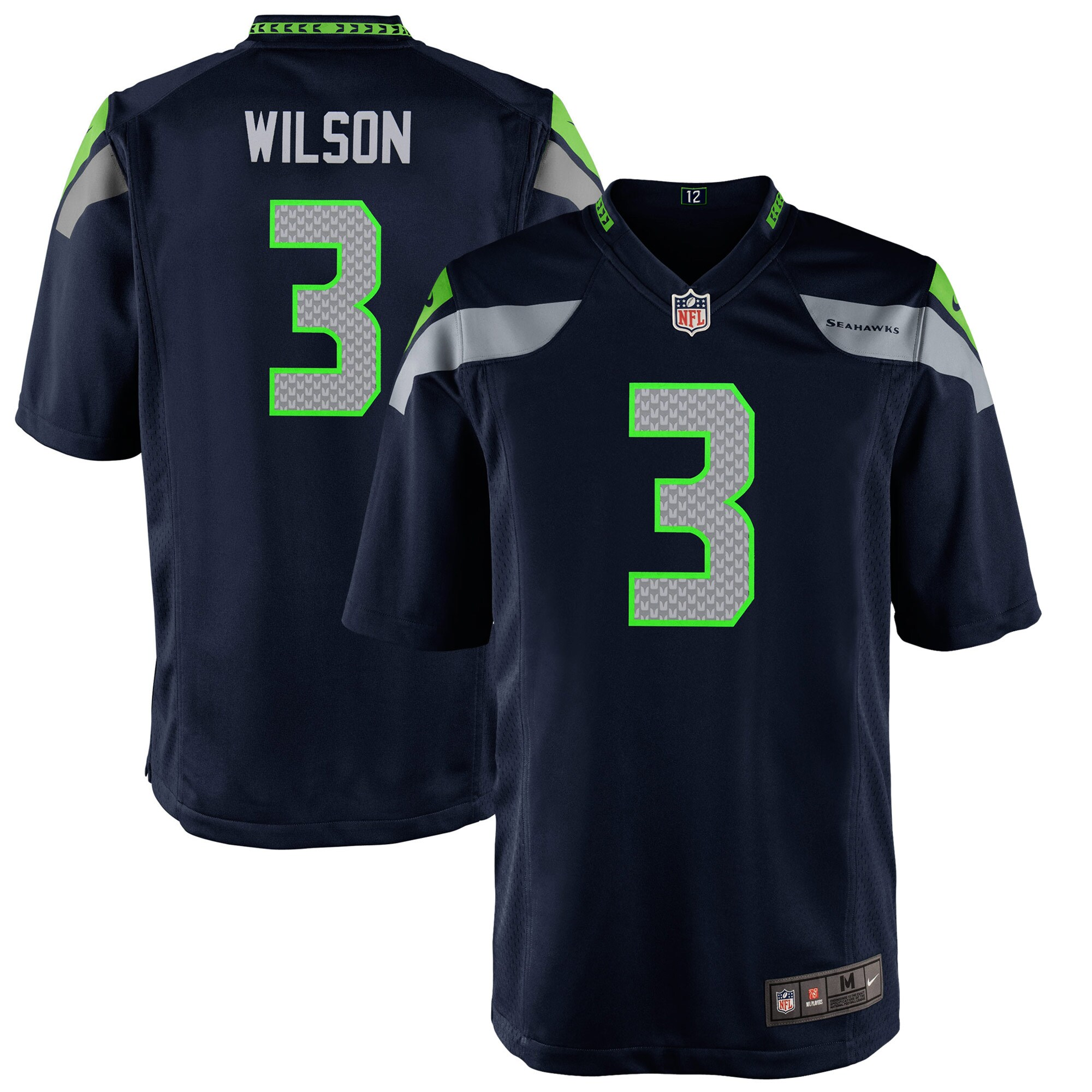Russell Wilson Seattle Seahawks Nike Preschool Game Jersey - College Navy
