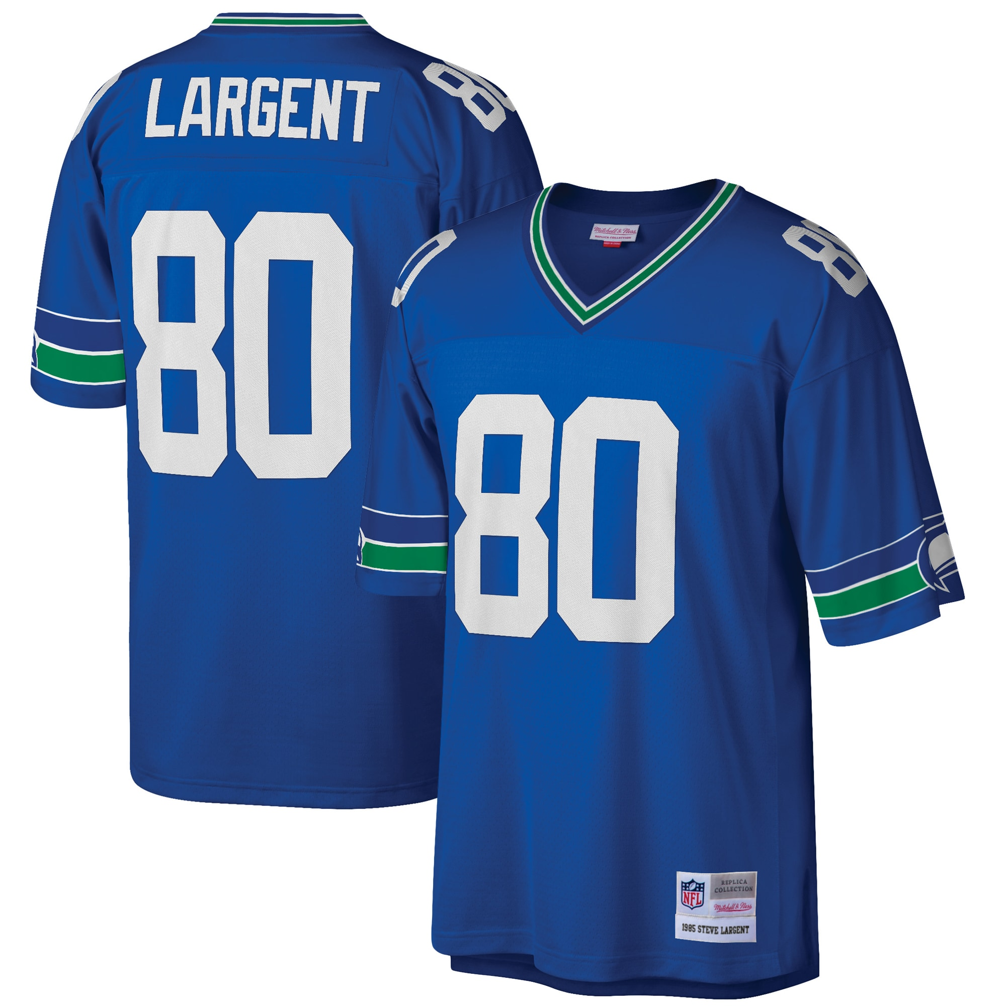 Steve Largent Seattle Seahawks Mitchell & Ness Retired Player Legacy Replica Jersey - Blue