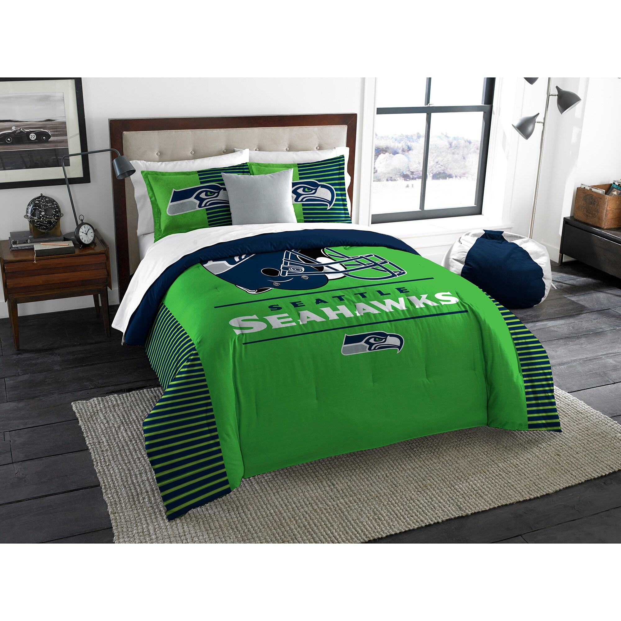 Seattle Seahawks The Northwest Company NFL Draft King Comforter Set