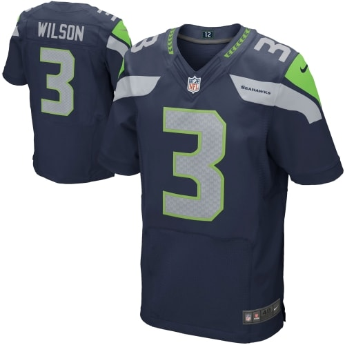 Russell Wilson Seattle Seahawks Nike Elite Jersey - College Navy