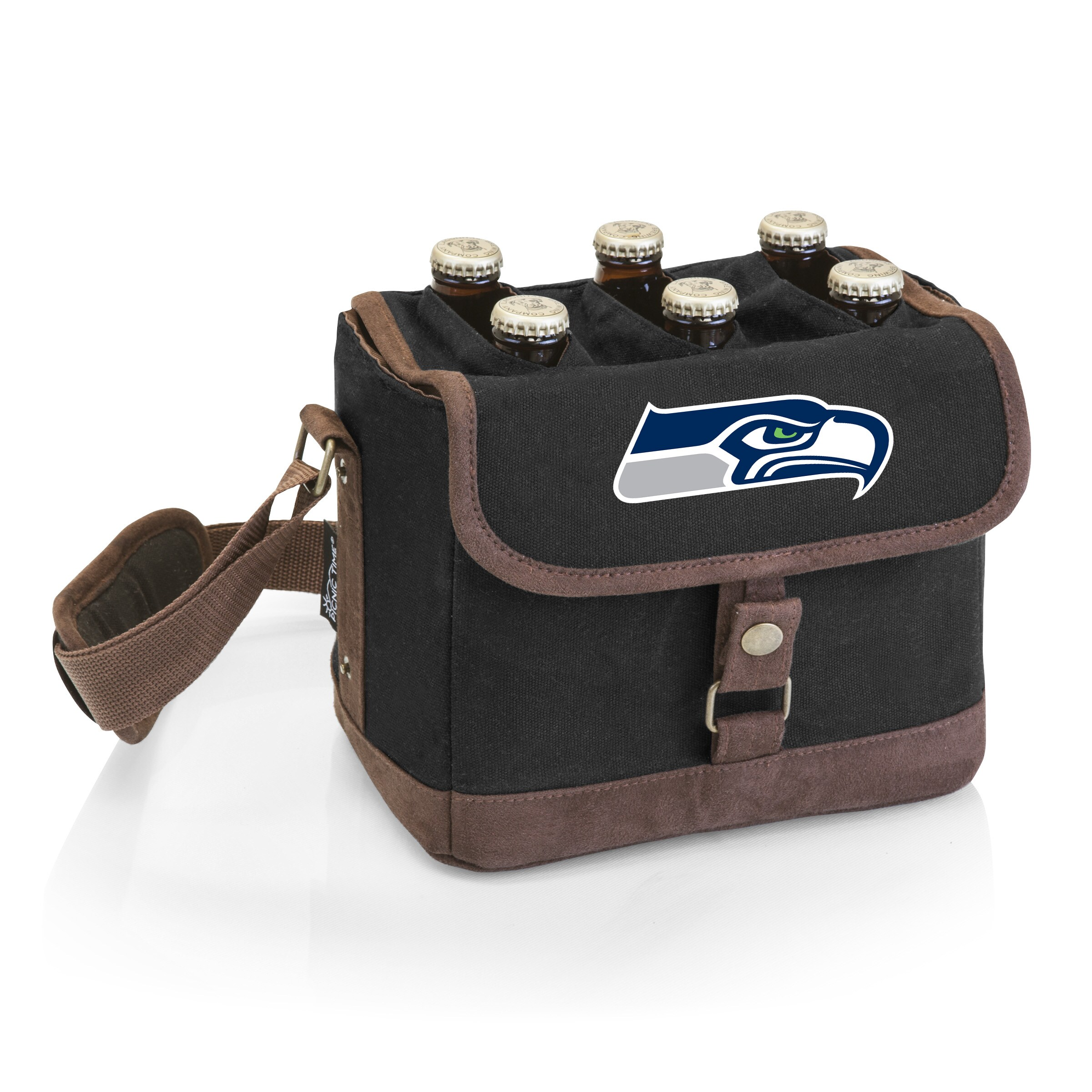 Seattle Seahawks Beer Caddy Cooler Tote with Opener