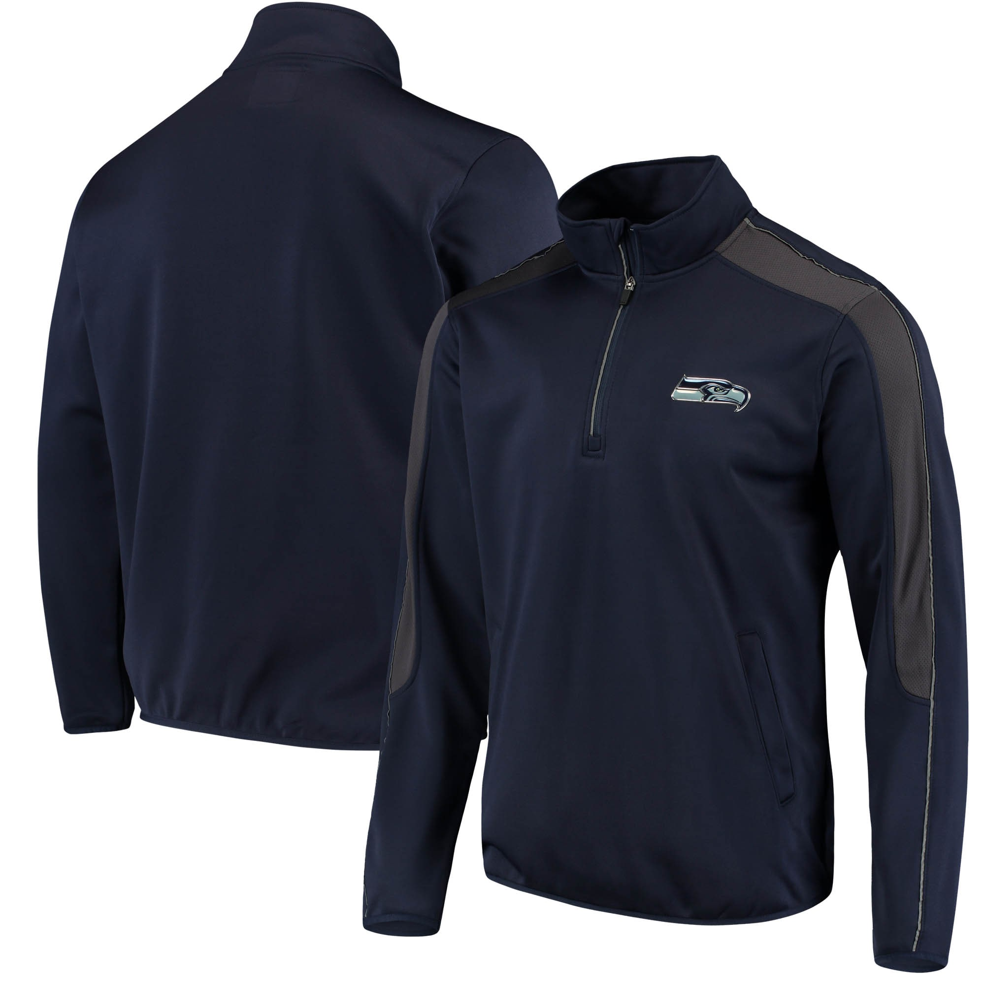 Seattle Seahawks G-III Sports by Carl Banks I Formation Quarter-Zip Pullover Jacket - College Navy