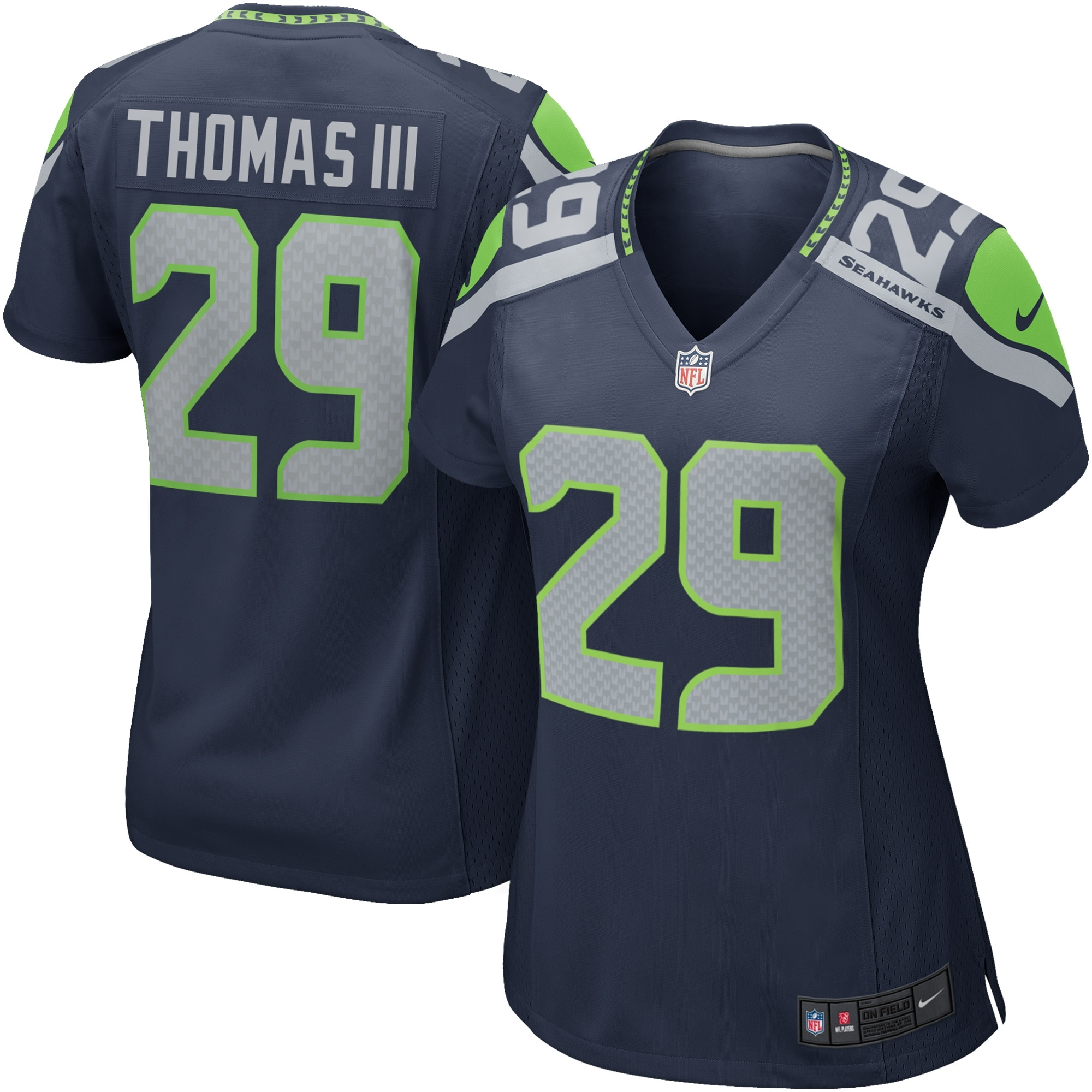 Earl Thomas III Seattle Seahawks Nike Women's Game Jersey - College Navy