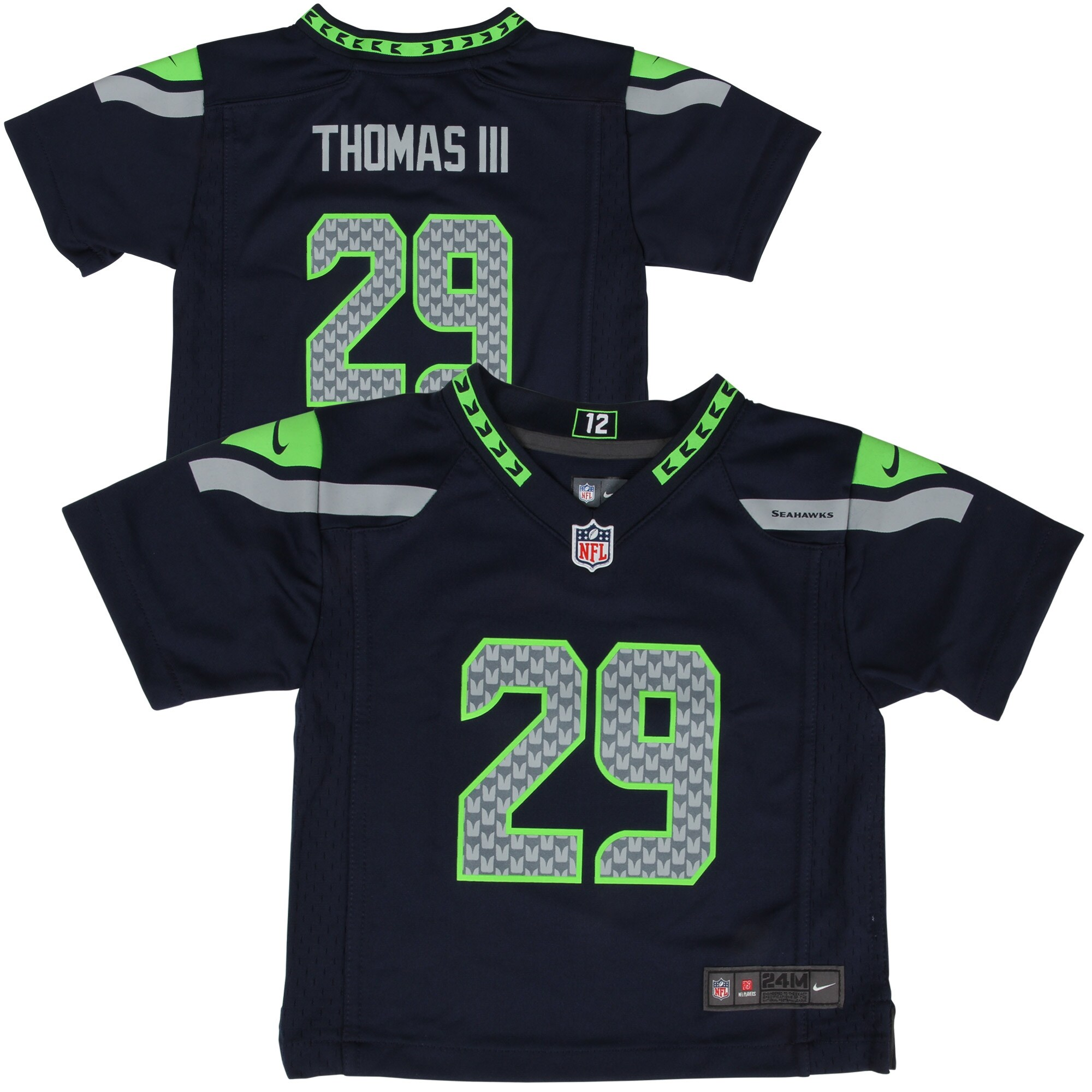 Earl Thomas Seattle Seahawks Nike Infant Team Color Game Jersey - College Navy