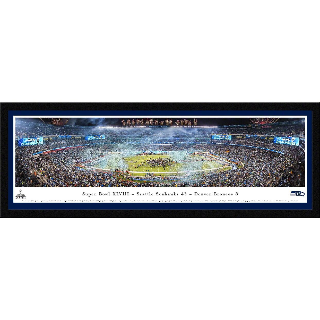 "Seattle Seahawks Super Bowl XLVIII 16"" x 42"" Select Frame Panoramic Photo"