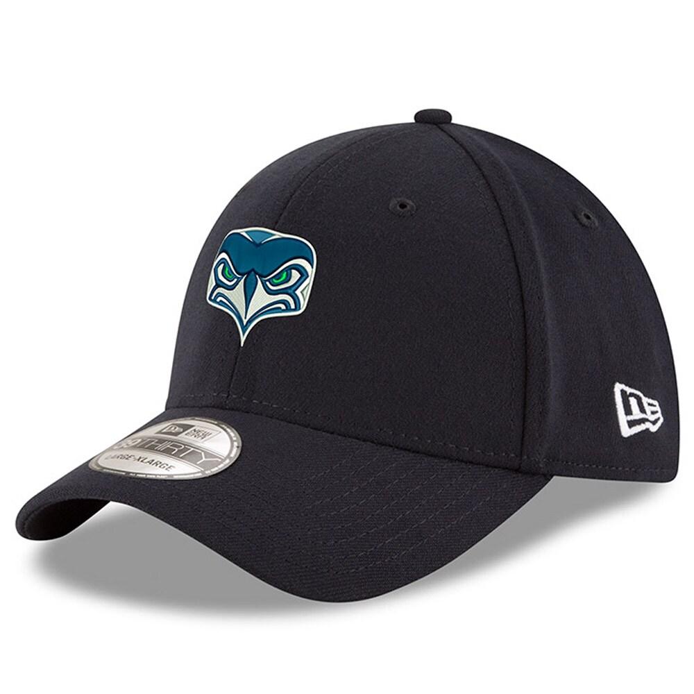 Seattle Seahawks New Era Alternate Team Logo Gear 39THIRTY Flex Hat - Navy
