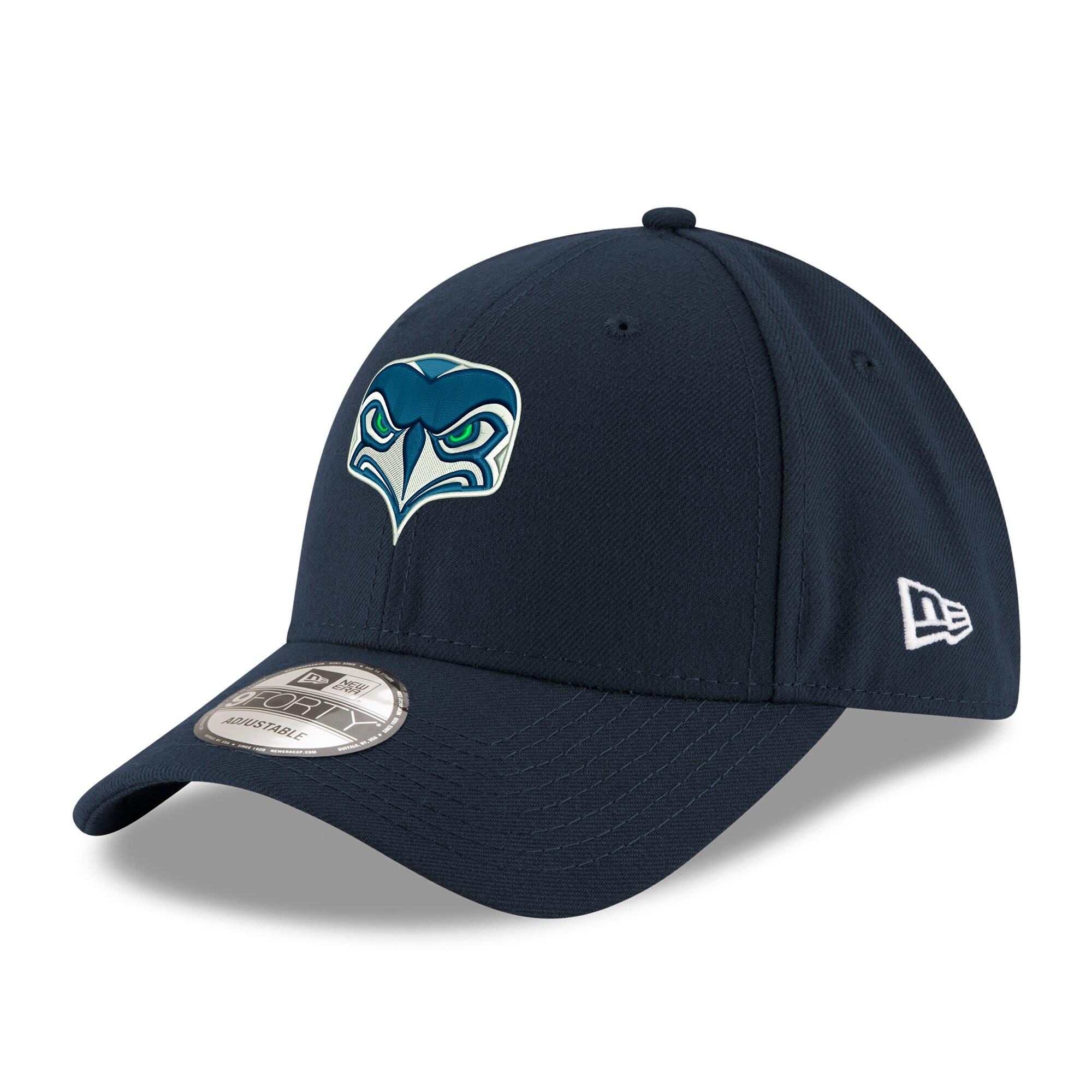 Seattle Seahawks New Era Women's Alternate Team Logo Gear 9FORTY Adjustable Hat - Navy
