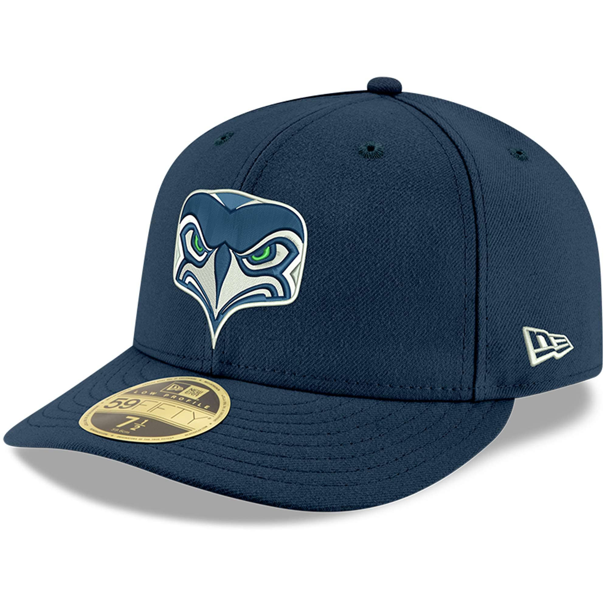 Seattle Seahawks New Era Omaha Low Profile 59FIFTY Fitted Hat - Navy