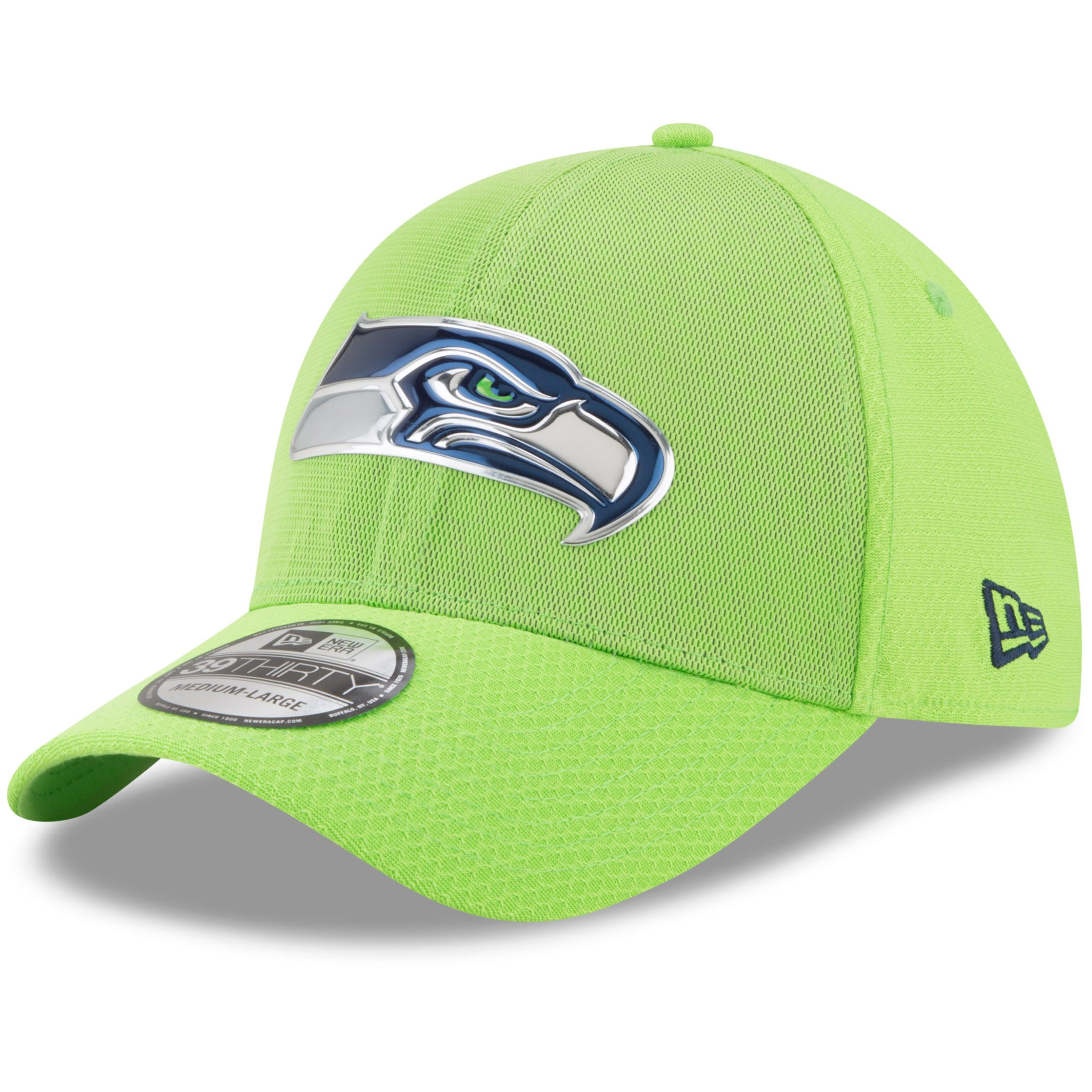 Seattle Seahawks New Era 2017 Color Rush 39THIRTY Flex Hat - Neon Green