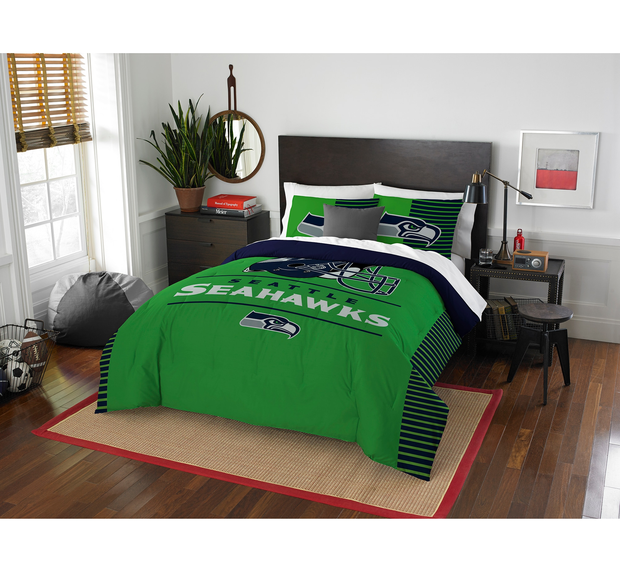 Seattle Seahawks The Northwest Company NFL Draft Full/Queen Comforter Set