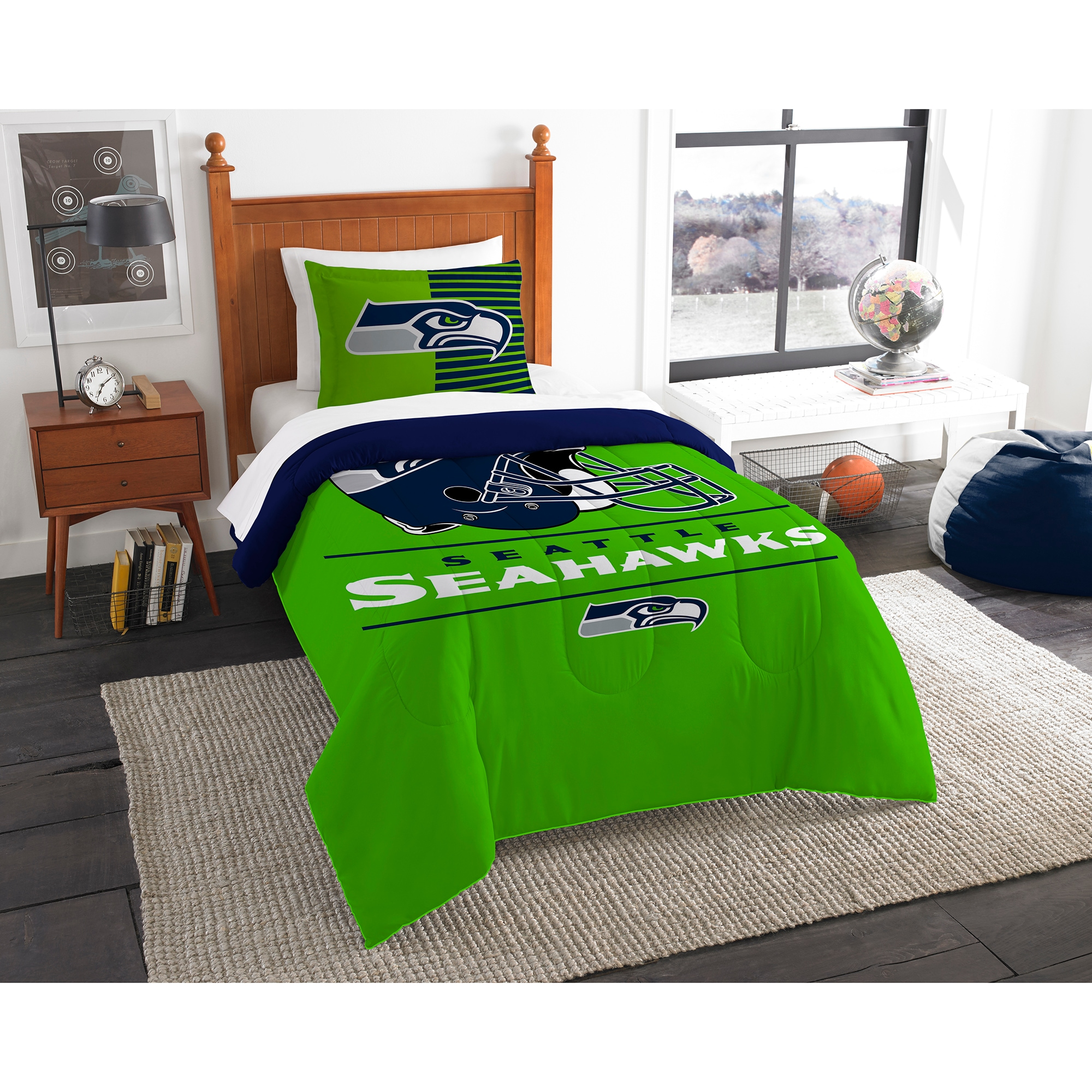 Seattle Seahawks The Northwest Company NFL Draft Twin Comforter Set
