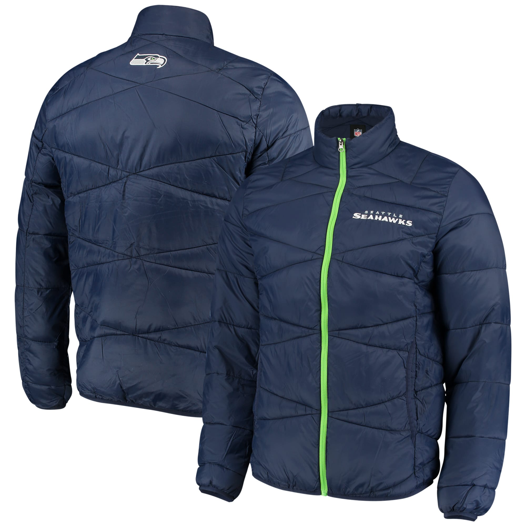 Seattle Seahawks G-III Sports by Carl Banks Blitz Packable Puffer Full-Zip Jacket - College Navy