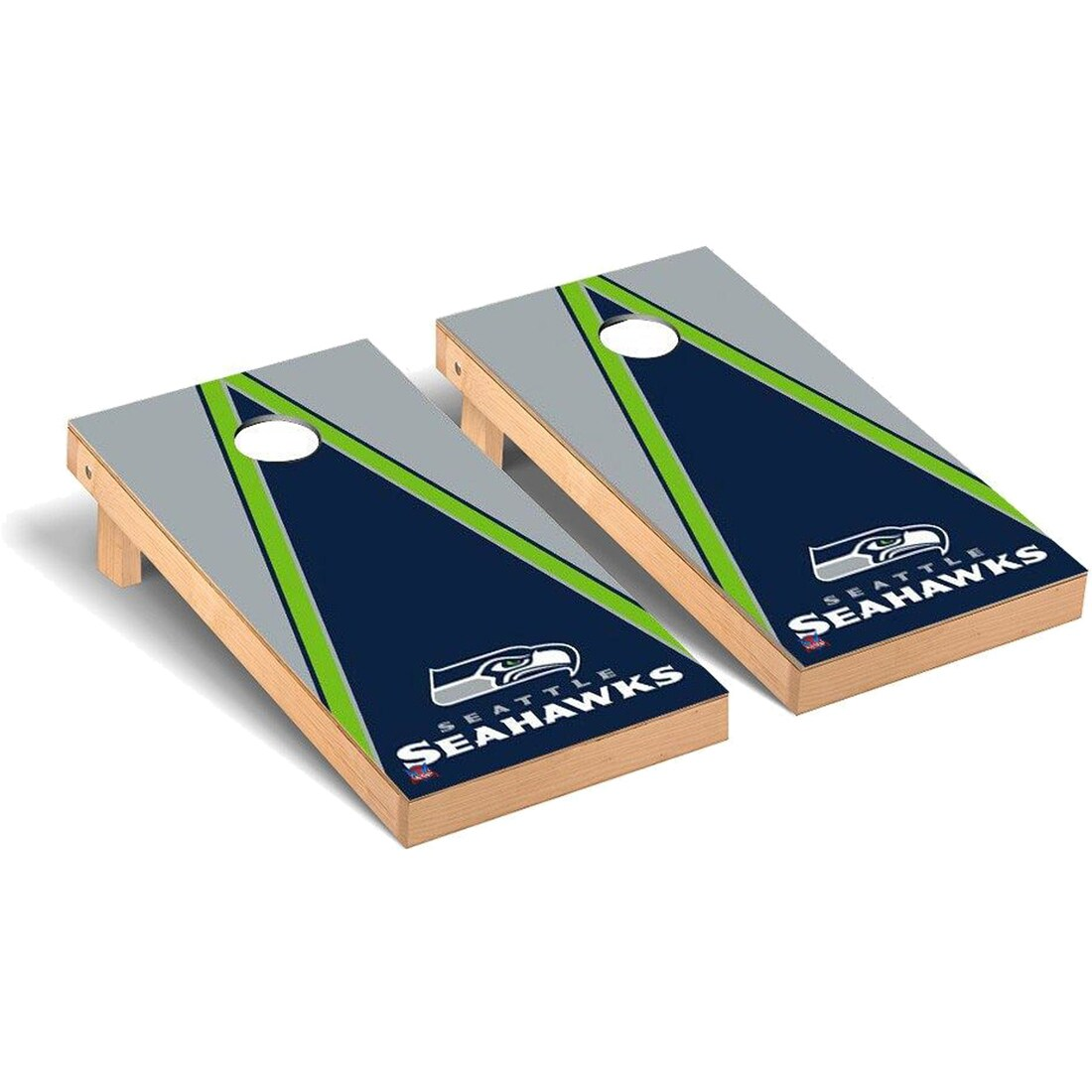 Seattle Seahawks 2' x 4' Triangle Cornhole Board Tailgate Toss Set