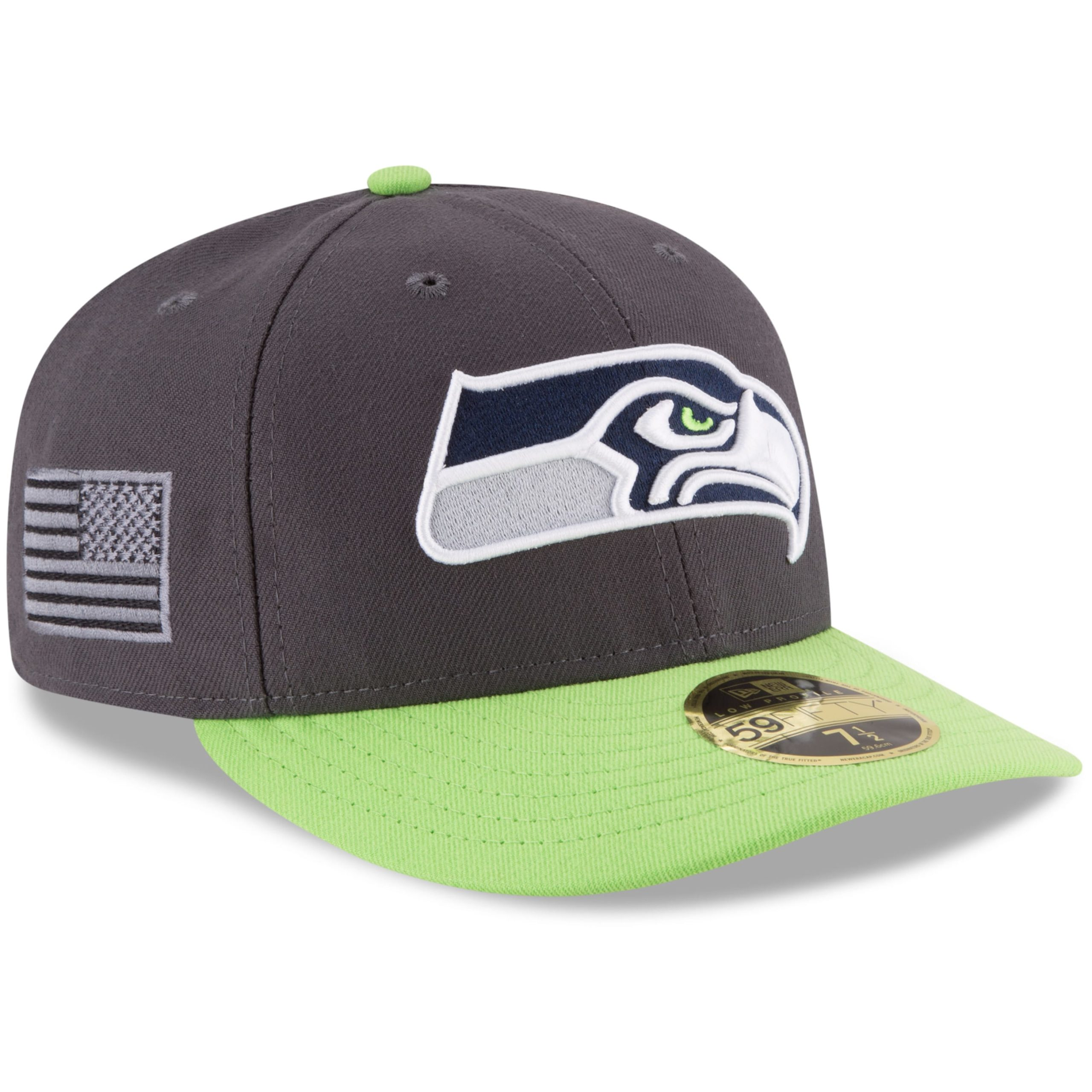 Seattle Seahawks New Era Crafted In America Low Profile 59FIFTY Fitted Hat - Graphite