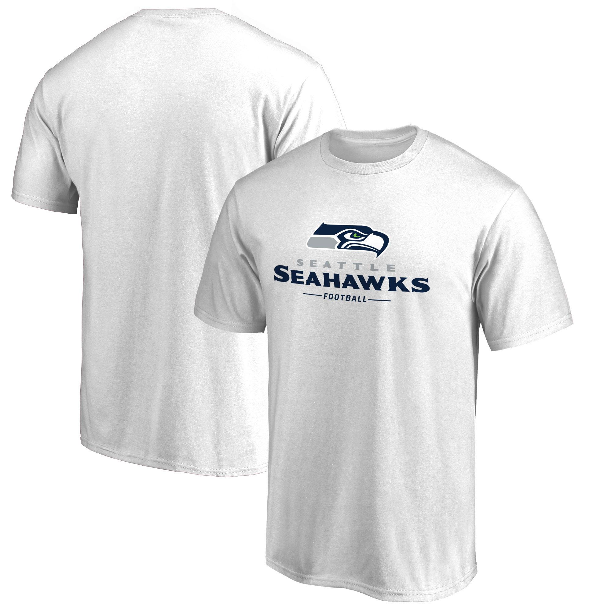 Seattle Seahawks NFL Pro Line by Fanatics Branded Team Lockup T-Shirt - White
