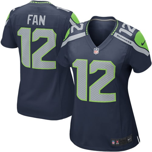 12s Seattle Seahawks Nike Women's Game Jersey - College Navy