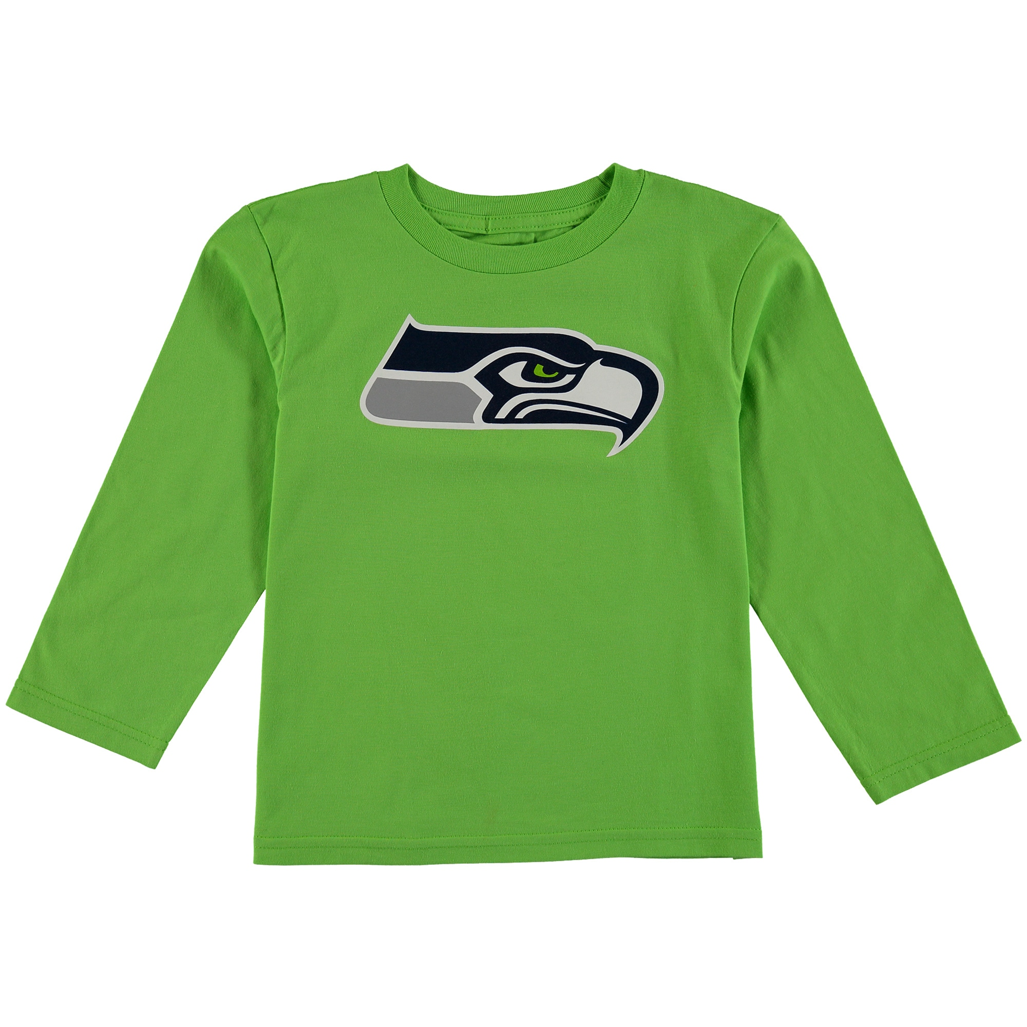 Seattle Seahawks Preschool Team Logo Long Sleeve T-Shirt - Neon Green
