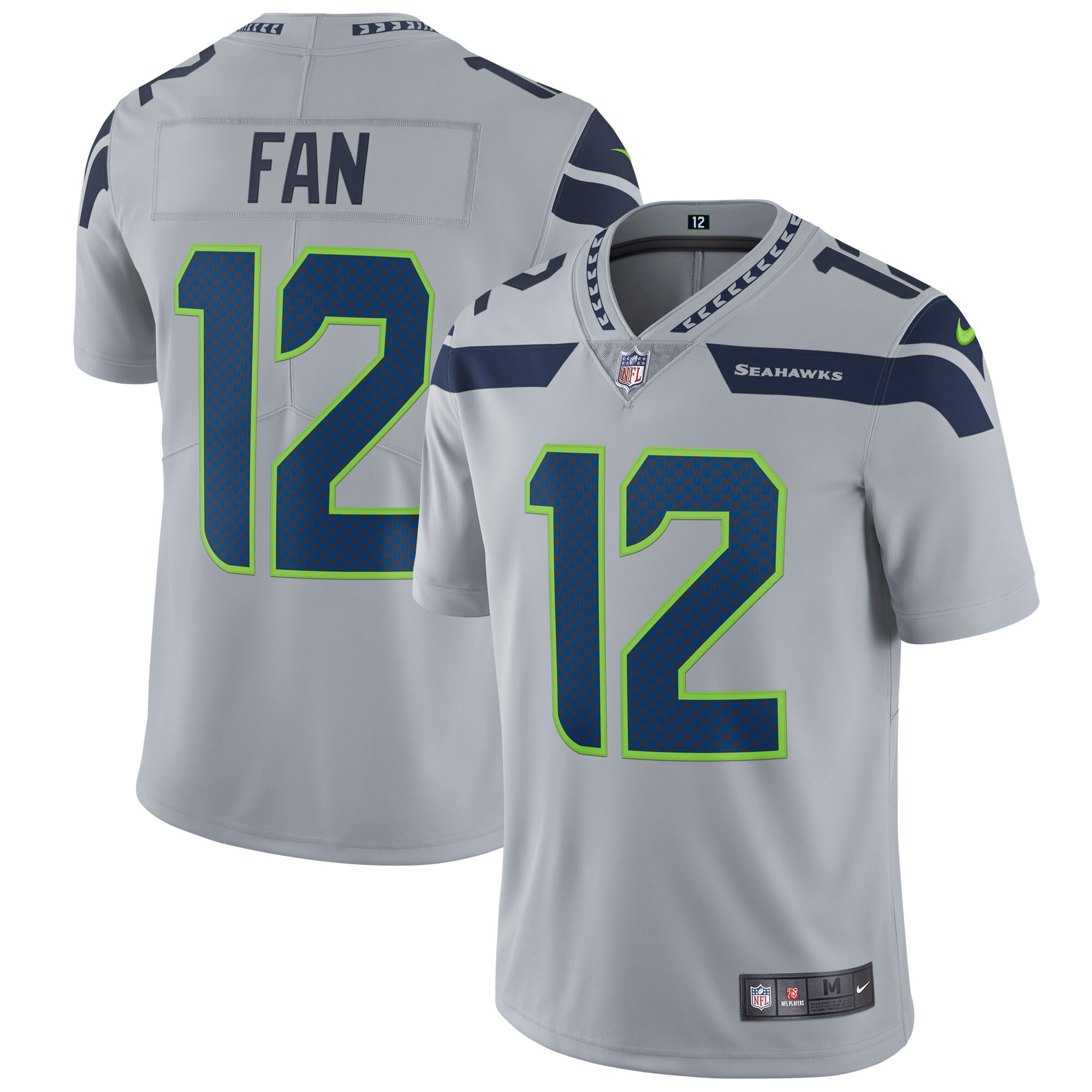 12s Seattle Seahawks Nike Vapor Untouchable Limited Player Jersey - Gray